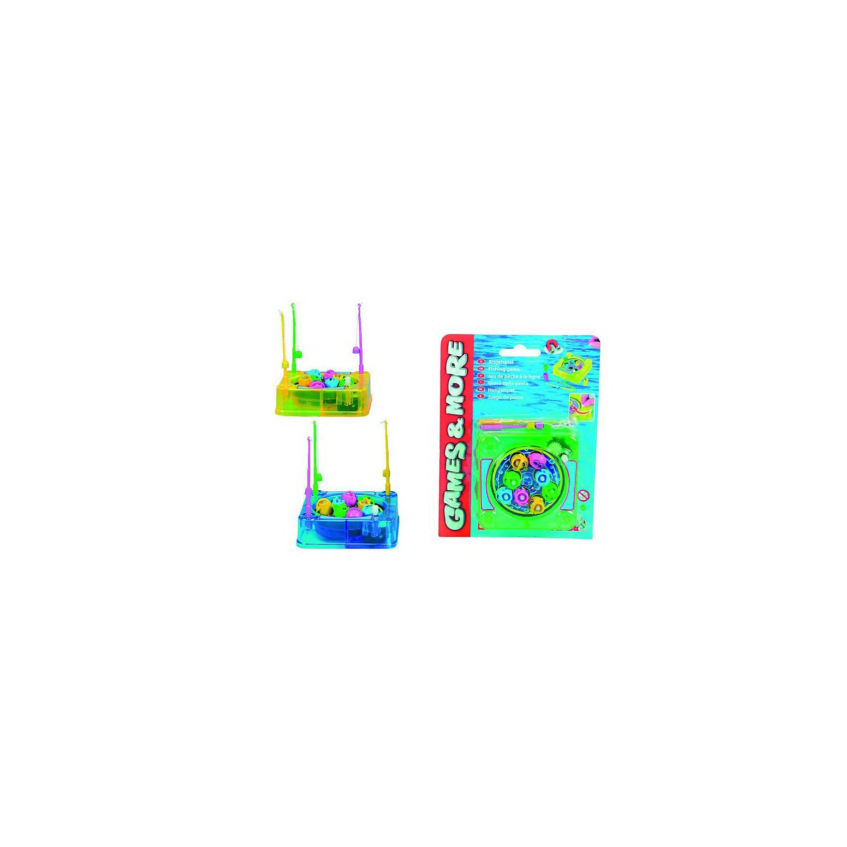 Игра Рыболов, SimbaИгры для развлечений<br>Классическая и любимая всеми детьми игра в рыбалку. Цель игры - выловить с помощью удочки всех рыбок из бассейна. В игре могут участвовать три игрока по количеству удочек. Удочки и рыбки снабжены магнитами. Специальный механизм заставляет рыбок быстро двигаться по бассейну, их ротики открываются и закрываются. Чтобы поймать как можно больше разноцветных рыбок, нужны ловкость и  хорошая реакция. Отличная игра  для совместного времяпрепровождения с детьми . <br><br> Дополнительная информация: <br><br>-В комплекте :аквариум, 8 рыбок, 3 удочки.<br>-Материал: упрочненный пластик.<br>- Размер пруда: 9,5х9,5х3 см.<br>- Размер упаковки: 20 X 15 X 3 см.<br>- Вес: 85 гр.  <br><br>Игрушка развивает у детей ловкость и координацию движений. <br>Приобрести игру Simba Рыболов можно в нашем магазине<br><br>Ширина мм: 200<br>Глубина мм: 150<br>Высота мм: 30<br>Вес г: 89<br>Возраст от месяцев: 36<br>Возраст до месяцев: 2147483647<br>Пол: Унисекс<br>Возраст: Детский<br>SKU: 2261050