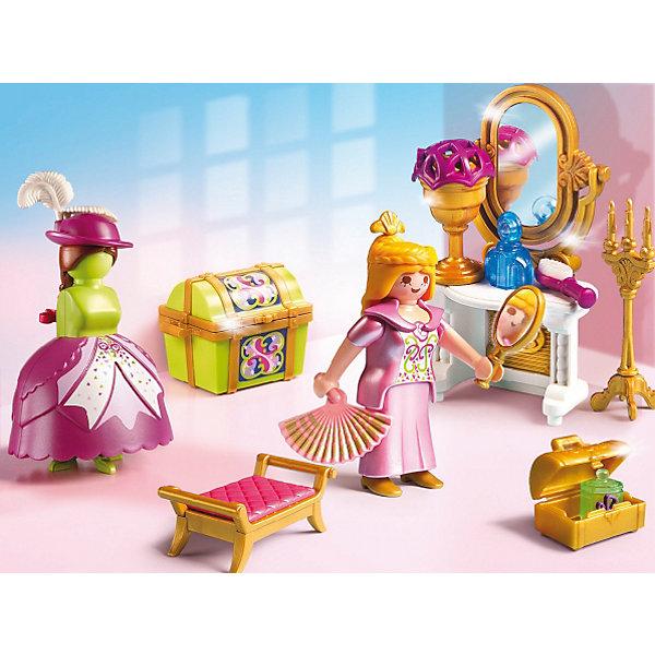Королевская гардеробная комната, PLAYMOBILПластмассовые конструкторы<br>Немецкая компания «Playmobil»  (Плеймобил) предлагает Вашей дочке новый игровой конструктор с элементами конструктора «Королевская гардеробная комната» № 5148 из серии «Сказочный дворец». В комплекте фигурка очаровательной королевы в красивом платье. Королева имеет подвижные руки и ноги, голову; она может держать небольшие предметы (например, веер). Также есть трюмо с безопасным зеркалом, сундучок для парфюма и украшений, сундук для хранения нарядов (шляпки, юбки, платья), удобный табурет, напольный подсвечник, свечи, манекен и другие яркие принадлежности. <br><br>Дополнительная информация:<br><br>- материал: пластмасса<br>- размер фигурок: 7.5см.<br>- размер упаковки: 20х15х7,5 см.   <br>- вес:400 гр. <br><br>Королевская гардеробная комната 5148 от PLAYMOBIL можно купить в нашем интернет-магазине.<br>Ширина мм: 205; Глубина мм: 151; Высота мм: 81; Вес г: 161; Возраст от месяцев: 48; Возраст до месяцев: 120; Пол: Женский; Возраст: Детский; SKU: 2265281;