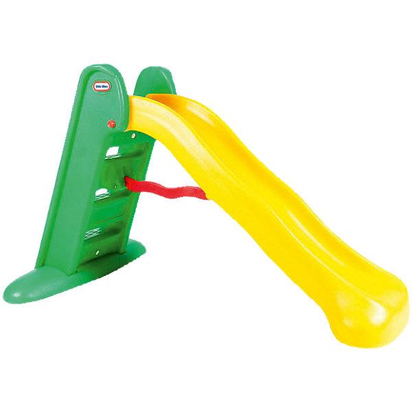 Little tikes Горка складнаяГорки<br>Горка Little Tikes предназначена для игры как дома, так и на улице, легко складывается, что позволяет, при необходимости, убрать ее на некоторое время.  Широкие ступеньки, и скругленные углы<br>разработаны с учетом обеспечения безопасности детей.<br>При изготовлении горки применяется метод центробежного литья, <br>что позволяет сделать ее ударопрочной  и устойчивой к перепадам <br>температур.<br>Выдерживает температуру до -18?С<br><br>Цвет горки: желто-зеленый.<br>Горка предназначена для детей от 2-х лет<br>Размеры горки: 168 х 97 х 97 см (длина, ширина, высота)<br>Размеры упаковки: 148 х 33 х 50 см<br>Длина поверхности скольжения: 150 см<br>Вес упаковки: 9,6 кг<br>Ширина мм: 1500; Глубина мм: 330; Высота мм: 510; Вес г: 11800; Возраст от месяцев: 24; Возраст до месяцев: 72; Пол: Унисекс; Возраст: Детский; SKU: 2269290;