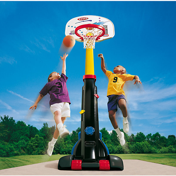 Little tikes Баскетбольный щит раздвижнойИгровые наборы<br>Баскетбольный щит с 5-ю регулировками высоты от 150 до 210 см, <br>он будет расти вместе с вашим ребенком и послужит отличным <br>развлечением на протяжении нескольких лет. По окончании дачного <br>сезона, щит можно сложить до компактных размеров и убрать, <br>удобные колеса облегчат вам его перенос.<br>В комплекте со щитом продается мяч, имитирующий настоящий <br>баскетбольный, но меньше по размеру и значительно мягче, что <br>идеально подходит для детей, т.к. не может  травмировать их в <br>процессе игры.<br><br>При изготовлении щита применяется метод центробежного литья, <br>что позволяет сделать его ударопрочным  и устойчивым к перепадам <br>температур. Выдерживает температуру до -18?С<br><br>Щит предназначен для детей от 3-х лет<br>Размеры щита 74 х 81 х 260 см (длина, ширина, высота)<br>Размеры упаковки: 60 х 28 х 123 см<br>Вес упаковки: 13,06кг<br>Ширина мм: 1250; Глубина мм: 280; Высота мм: 600; Вес г: 12000; Возраст от месяцев: 36; Возраст до месяцев: 96; Пол: Унисекс; Возраст: Детский; SKU: 2269292;
