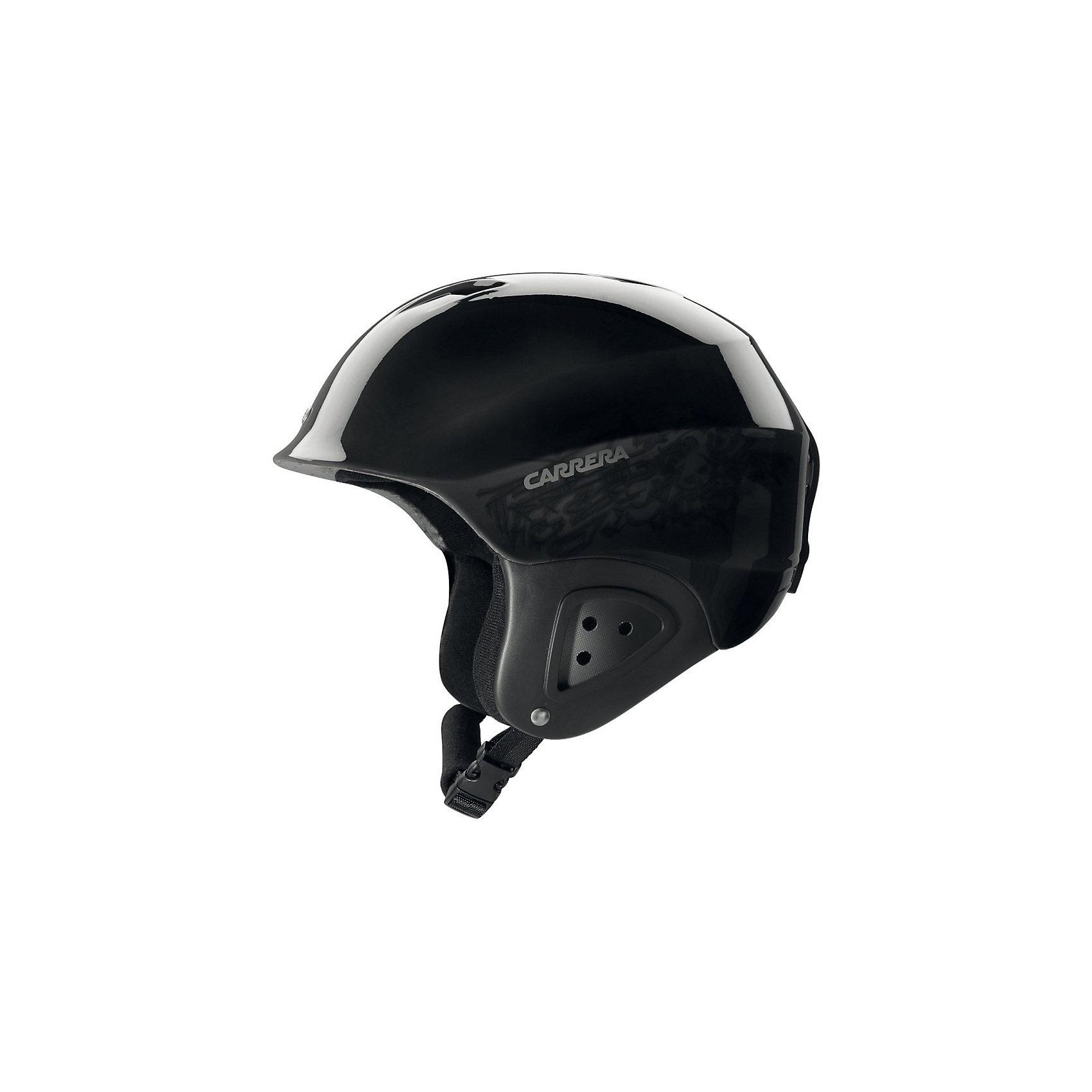 CARRERA Детский лыжный шлемИдеальная защита для маленьких любителей зимних видов спортаю Очень легкий детский шлем, изготовленный по новейшим технологиям, оптимально защищает детей.<br><br>Детали:<br><br>- легкий шлем для детей и подростков<br>- отверстия для лучшей циркуляции воздуха<br>- технология In-Moulding<br>- держатель для лыжных очков<br>- подкладка Dry Wave<br>- с системой AFS<br><br>Система AFS:<br>благодаря специальной анатомической защитной системе, которая находится в задней части шлема, этот шлем можно регулировать по диаметру головы, чтобы добиться хорошей посадки и максимального комфорта. Эта система находится внутри для того, чтобы гарантировать максимальную безопасность, при этом не ограничивая движение шеи.<br><br>Ширина мм: 235<br>Глубина мм: 235<br>Высота мм: 240<br>Вес г: 350<br>Цвет: черный<br>Возраст от месяцев: 36<br>Возраст до месяцев: 1200<br>Пол: Унисекс<br>Возраст: Детский<br>Размер: 49-52<br>SKU: 2269583