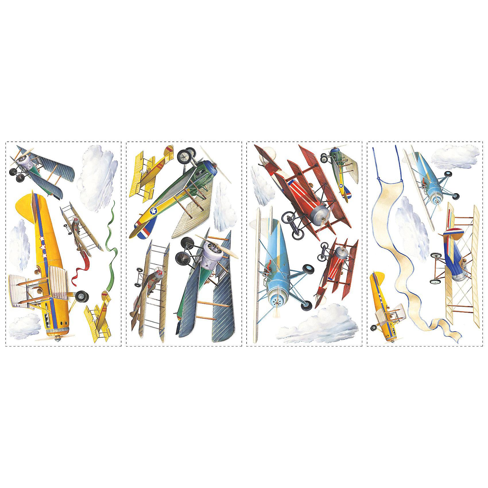 RoomMates Наклейки для декора Самолеты, исторические модели