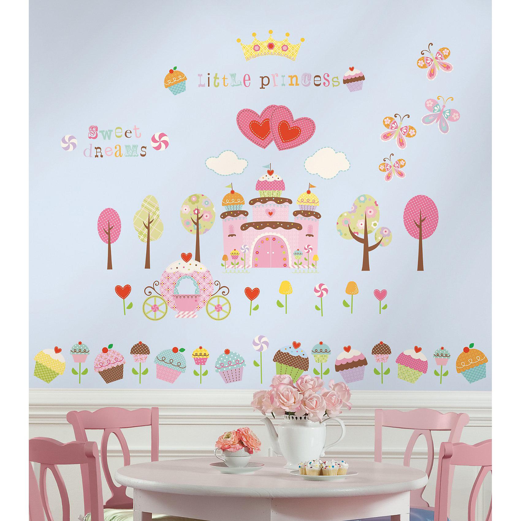 RoomMates Наклейки для декора Пирожные наклейки интерьерные roommates наклейки для декора зебра полоски розовые
