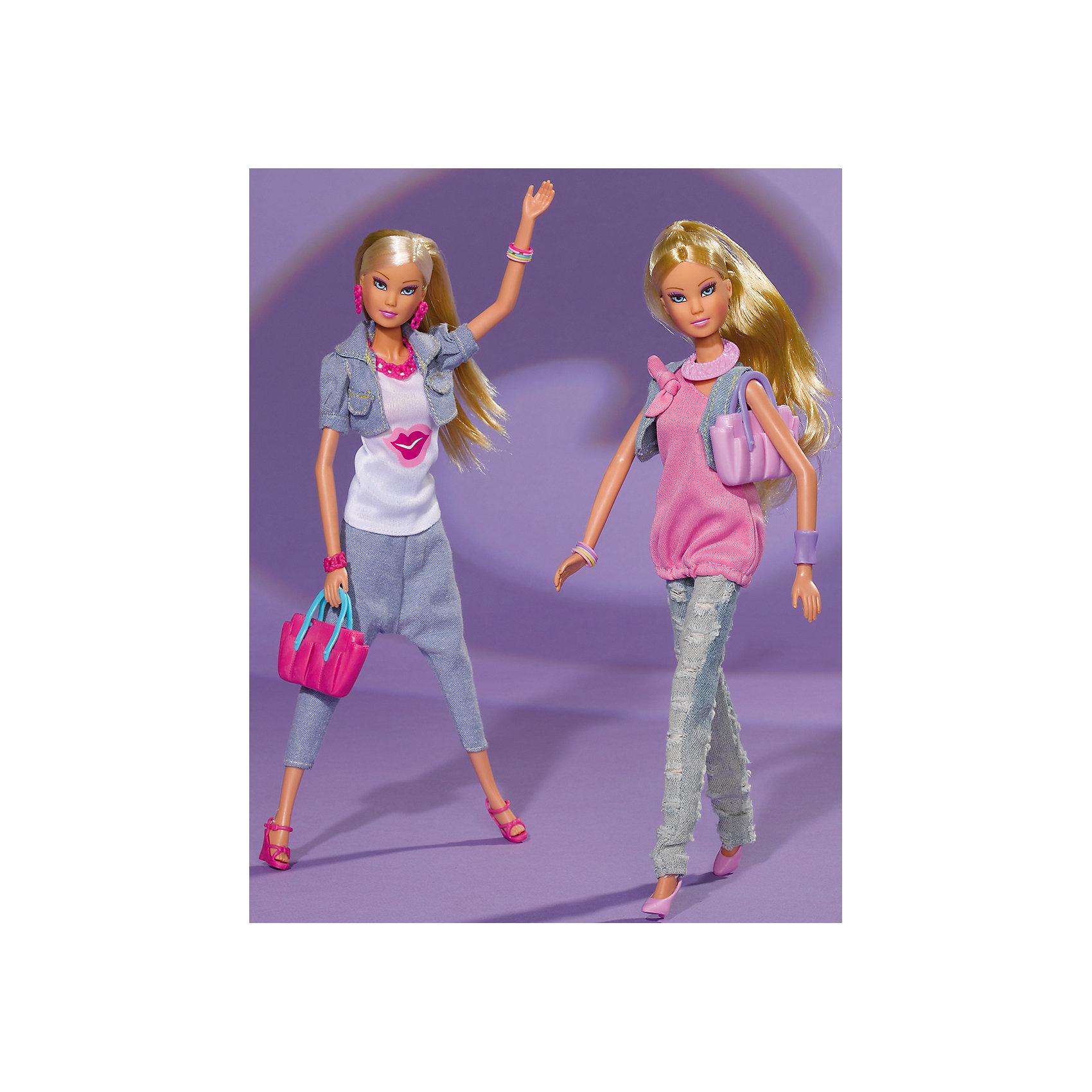 Кукла Штеффи в джинсах, SimbaХарактеристики товара:<br><br>- цвет: разноцветный;<br>- материал: пластик, текстиль;<br>- возраст: от трех лет;<br>- комплектация: кукла, аксессуары;<br>- высота куклы: 29 см.<br><br>Эта симпатичная кукла Штеффи от известного бренда не оставит девочку равнодушной! Какая девочка сможет отказаться поиграть с куклами, которые дополнены таким очаровательным нарядом?! В набор входит одежда для куклы. Игрушка очень качественно выполнена, поэтому она станет замечательным подарком ребенку. <br>Продается набор в красивой удобной упаковке. Игры с куклами помогают девочкам развить важные навыки и отработать модели социального взаимодействия. Изделие произведено из высококачественного материала, безопасного для детей.<br><br>Куклу Штеффи в джинсах, 29 см, от бренда Simba можно купить в нашем интернет-магазине.<br><br>Ширина мм: 120<br>Глубина мм: 328<br>Высота мм: 520<br>Вес г: 231<br>Возраст от месяцев: 36<br>Возраст до месяцев: 72<br>Пол: Женский<br>Возраст: Детский<br>SKU: 2270174