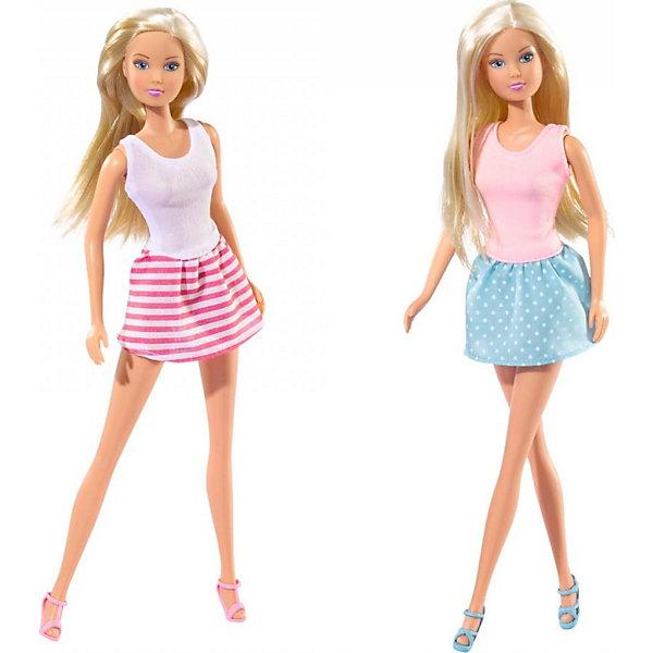 Кукла Штеффи - городская мода, SimbaКуклы модели<br>Характеристики товара:<br><br>- цвет: разноцветный;<br>- материал: пластик, текстиль;<br>- возраст: от трех лет;<br>- комплектация: кукла, аксессуары;<br>- высота куклы: 29 см.<br><br>Эта симпатичная кукла Штеффи от известного бренда не оставит девочку равнодушной! Какая девочка сможет отказаться поиграть с куклами, которые дополнены таким очаровательным нарядом?! В набор входит одежда для куклы. Игрушка очень качественно выполнена, поэтому она станет замечательным подарком ребенку. <br>Продается набор в красивой удобной упаковке. Игры с куклами помогают девочкам развить важные навыки и отработать модели социального взаимодействия. Изделие произведено из высококачественного материала, безопасного для детей.<br><br>Куклу Штеффи - городская мода, 29 см, от бренда Simba можно купить в нашем интернет-магазине.<br><br>Ширина мм: 45<br>Глубина мм: 95<br>Высота мм: 325<br>Вес г: 200<br>Возраст от месяцев: 36<br>Возраст до месяцев: 84<br>Пол: Женский<br>Возраст: Детский<br>SKU: 2270179
