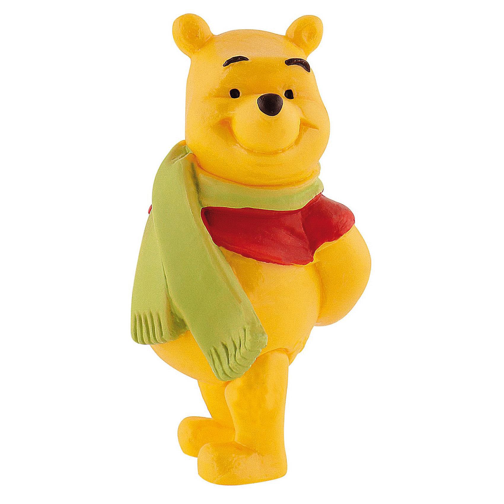 Фигурка Винни с шарфом, Винни ПухВинни Пух Дисней<br>Фигурка медвежонка Винни-Пуха из мультфильма студии Уолта Диснея «Винни-Пух и все, все, все». Позвольте представиться, я - Винни-Пух! Замечательный плюшевый любимец детей и взрослых. Больше всего на свете я люблю сладкий и душистый мед. Мой лучший друг – поросенок Хрюня. Перед вами моя фигурка в шарфике, милая и обаятельная, с легкой дружелюбной улыбкой. Приходите ко мне, я очень хочу стать вашим другом! Игрушка выполнена из высококачественных, нетоксичных материалов и безопасна для детей.<br><br>Дополнительная информация:<br><br>Размер:6,1 см <br>Материал: термопластичный каучук высокого качества. <br> <br>Фигурку Винни с шарфом,  Disney можно купить в нашем магазине.<br><br>Ширина мм: 33<br>Глубина мм: 33<br>Высота мм: 64<br>Вес г: 24<br>Возраст от месяцев: 36<br>Возраст до месяцев: 1164<br>Пол: Унисекс<br>Возраст: Детский<br>SKU: 2270192