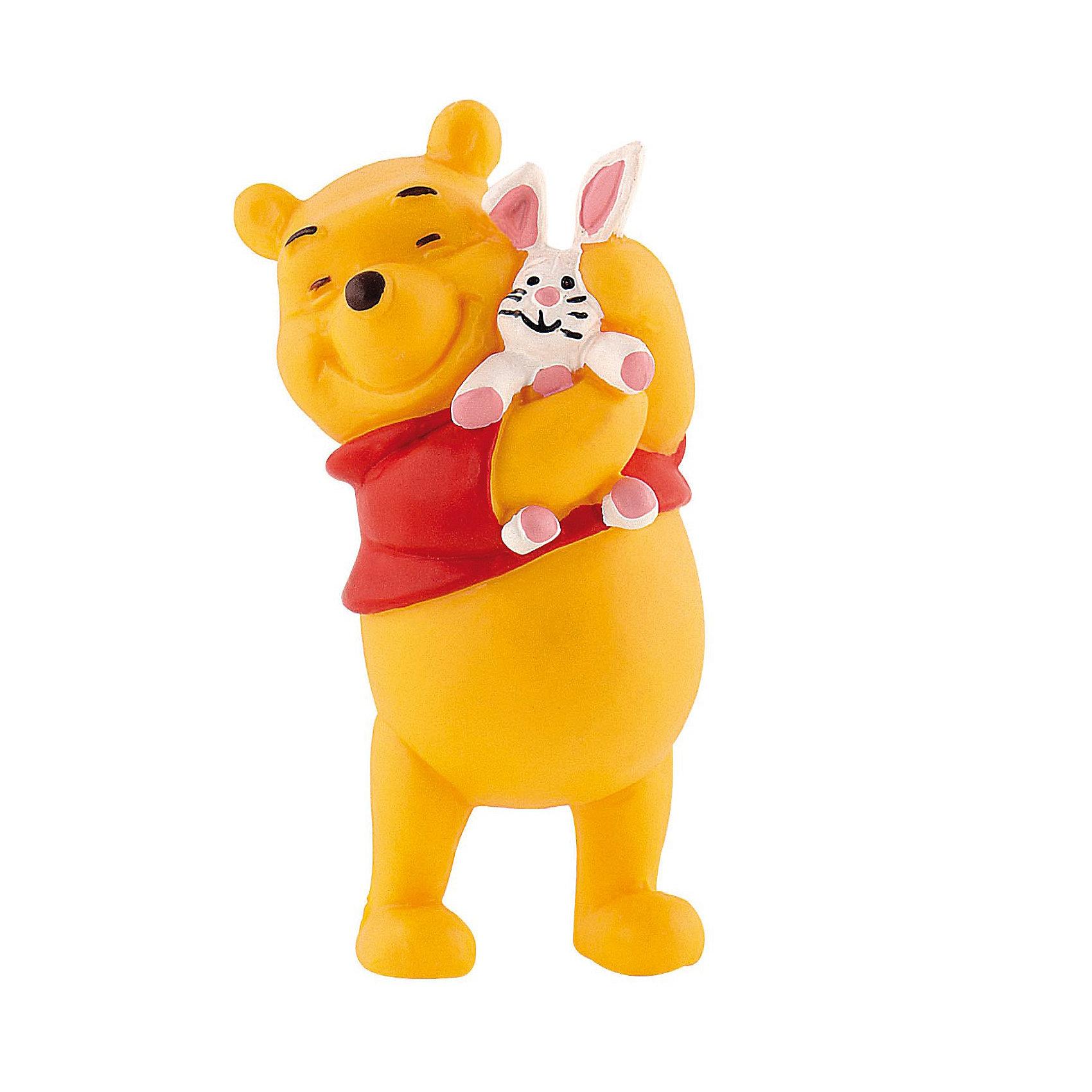 Фигурка Винни и кролик, Винни ПухКоллекционные и игровые фигурки<br>Фигурка Винни и Кролик из мультфильма студии Уолта Диснея «Винни-Пух и все, все, все». Образованный Кролик живет в норе. Он умеет читать, его пытливый ум помогает ему решить самые трудные ситуации. Персонаж любит Винни-Пуха за его веселый нрав и жизнелюбие. Кролик дружит со всеми обитателями леса, но, по сути, является одиночкой. Фигурка Винни-Пуха с Кроликом, выражает тепло и привязанность персонажей друг к другу. Игрушка выполнена из высококачественных, нетоксичных материалов и безопасна для детей.<br><br>Дополнительная информация:<br><br>Размер:6,3 см <br>Материал: термопластичный каучук высокого качества. <br> <br>Фигурку Винни и кролик,  Disney можно купить в нашем магазине.<br><br>Ширина мм: 26<br>Глубина мм: 26<br>Высота мм: 66<br>Вес г: 23<br>Возраст от месяцев: 36<br>Возраст до месяцев: 1164<br>Пол: Женский<br>Возраст: Детский<br>SKU: 2270193
