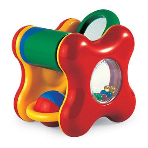 Погремушка с подвижными элементами, TOLO CLASSICИгрушки для новорожденных<br>Забавный куб для Вашего малыша. <br><br>В этой игрушке скрывается масса способов одновременно развлекать ребёнка и способствовать его развитию. Каждая грань многофункционального кубика предлагает что-нибудь своё.  В его центре пересыпается набор маленьких разноцветных шариков, а по сторонам располагаются:<br><br>- крутящийся барабан;<br>- разноцветный шарик;<br>- зеркальце;<br>- пищалка;<br>- набор разноцветных колечек.<br><br>Исследовать игрушку можно долгими часами, пробуя на ней разные действия и получая на них отклик. В процессе игры ребёнок не только удовлетворяет любопытство, но и развивает свои базовые навыки. Как и прочие игрушки от TOLO, Забавный куб выполнен из качественного пластика ярких расцветок и соответствует высоким стандартам безопасности.<br><br>Дополнительная информация:<br><br>Размер упаковки (д/ш/в): 16 х 12,7 х 13,4 см. <br><br>Забавный куб не даст Вашему малышу соскучиться!<br><br>Ширина мм: 160<br>Глубина мм: 127<br>Высота мм: 134<br>Вес г: 280<br>Возраст от месяцев: 6<br>Возраст до месяцев: 24<br>Пол: Унисекс<br>Возраст: Детский<br>SKU: 2276549