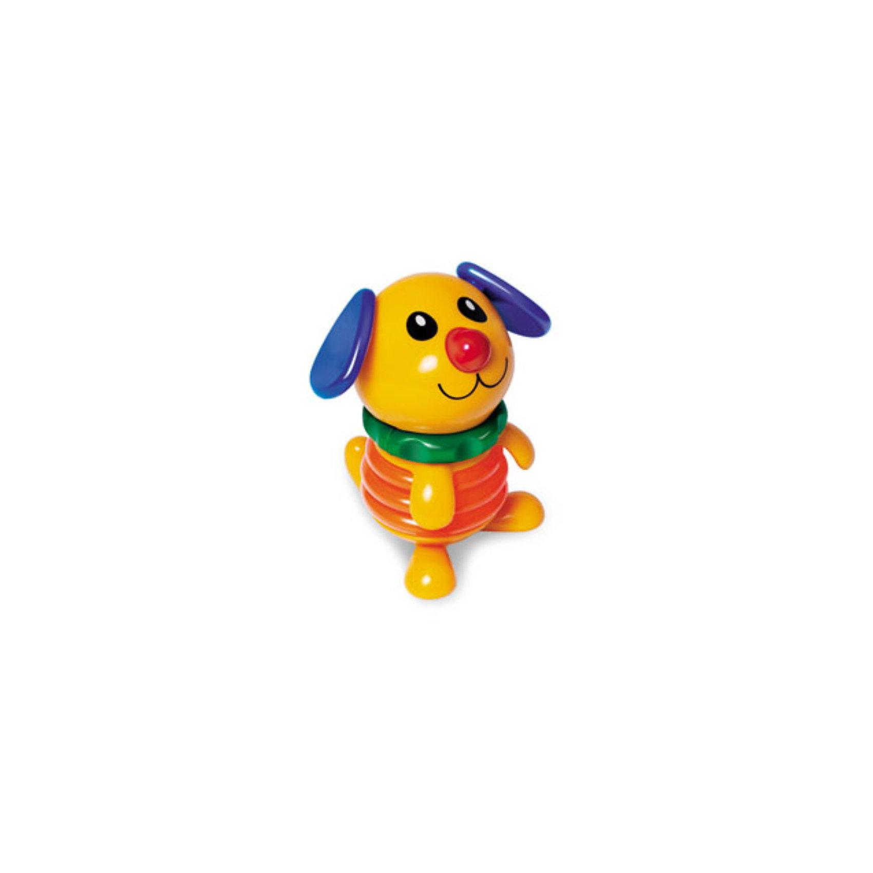 Фигурка Собака, TOLO CLASSICПогремушки<br>Игрушка-пищалка, сделанная в виде милого жёлтого щенка, надёжно привлечёт внимание малыша своим дизайном и громким звуком. Стоит нажать на голову щеночка, как он сложится почти вдвоё и издаст высокий писк! Его голова может крутиться в разные стороны с механическим потрескиванием, ушки вертятся, а размеры игрушки позволяют детским ладошкам без каких-либо затруднений хватать её и удерживать. Пластик, из которого она изготовлена, безопасен<br>для ребёнка, поэтому он без опаски может грызть или покусывать её.<br><br>Возраст: от 6 месяцев и старше.<br><br>Ширина мм: 125<br>Глубина мм: 65<br>Высота мм: 140<br>Вес г: 130<br>Возраст от месяцев: 12<br>Возраст до месяцев: 60<br>Пол: Унисекс<br>Возраст: Детский<br>SKU: 2276563