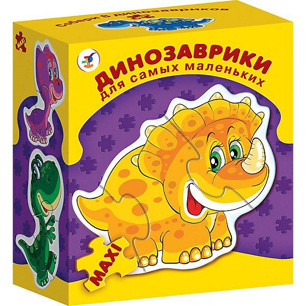 Дрофа-Медиа Динозаврики. Серия Для самых маленькихПазлы для малышей<br>Развивающая игра Динозаврики. Серия Для самых маленьких,  Дрофа-Медиа (Drofa-media).<br><br>Игра прекрасно подходит для первого знакомства малыша с мозаикой, способствует формированию навыка соединения целого изображения из двух-трёх элементов. В игре набор из восьми динозавриков, состоящих из крупных деталей, которые соединяются с помощью пазлового замка и вставляются в рамку. Игры этой серии помогают в развитии зрительного восприятия, мелкой моторики и координации движений рук, наглядно-образного мышления, памяти и внимания.<br><br>Станет прекрасным подарком Вашему малышу!<br><br>Дополнительная информация: <br><br>- В комплекте: 8 фигурных пазлов-динозавриков<br>- Размер собираемой картинки: 120 х 150 мм<br>- Размер упаковки: 155 х 85 х 185 мм<br>- Вес: 235 г.<br><br>Развивающую игру Динозаврики. Серия Для самых маленьких,  Дрофа-Медиа (Drofa-media) можно купить в нашем интернет-магазине.<br>Ширина мм: 155; Глубина мм: 85; Высота мм: 185; Вес г: 235; Возраст от месяцев: 24; Возраст до месяцев: 60; Пол: Унисекс; Возраст: Детский; SKU: 2281337;