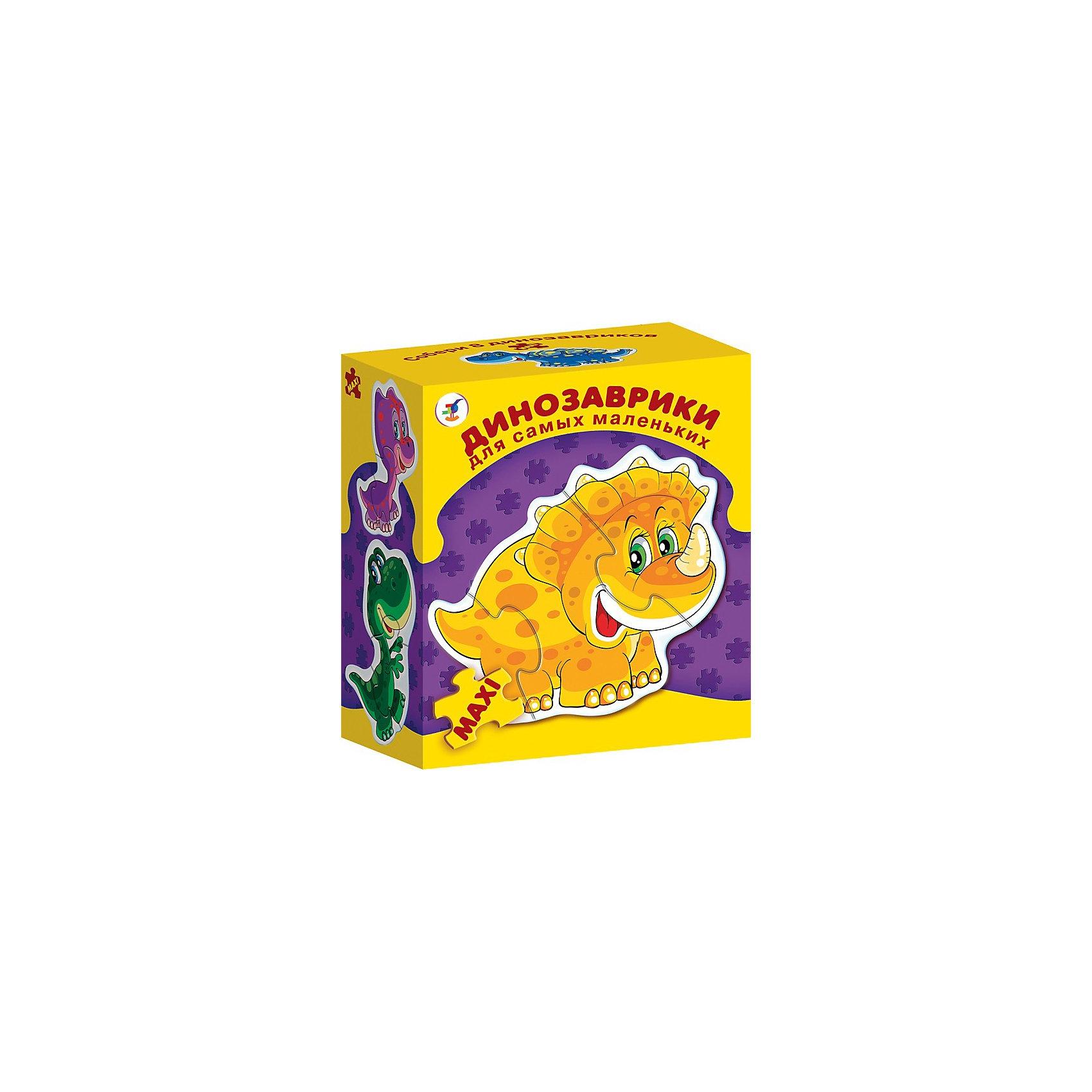 Дрофа-Медиа Динозаврики. Серия Для самых маленькихПазлы для малышей<br>Развивающая игра Динозаврики. Серия Для самых маленьких,  Дрофа-Медиа (Drofa-media).<br><br>Игра прекрасно подходит для первого знакомства малыша с мозаикой, способствует формированию навыка соединения целого изображения из двух-трёх элементов. В игре набор из восьми динозавриков, состоящих из крупных деталей, которые соединяются с помощью пазлового замка и вставляются в рамку. Игры этой серии помогают в развитии зрительного восприятия, мелкой моторики и координации движений рук, наглядно-образного мышления, памяти и внимания.<br><br>Станет прекрасным подарком Вашему малышу!<br><br>Дополнительная информация: <br><br>- В комплекте: 8 фигурных пазлов-динозавриков<br>- Размер собираемой картинки: 120 х 150 мм<br>- Размер упаковки: 155 х 85 х 185 мм<br>- Вес: 235 г.<br><br>Развивающую игру Динозаврики. Серия Для самых маленьких,  Дрофа-Медиа (Drofa-media) можно купить в нашем интернет-магазине.<br><br>Ширина мм: 155<br>Глубина мм: 85<br>Высота мм: 185<br>Вес г: 235<br>Возраст от месяцев: 24<br>Возраст до месяцев: 60<br>Пол: Унисекс<br>Возраст: Детский<br>SKU: 2281337