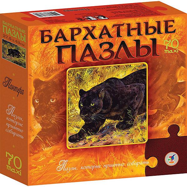 Купить Бархатный пазл Пантера , 70 макси-деталей, Дрофа-Медиа, Россия, Унисекс