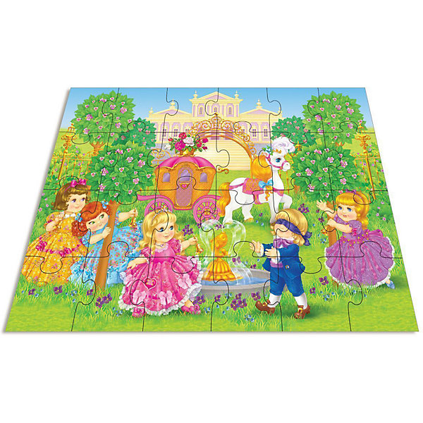 Мозаика для малышей Принцессы, Дрофа-МедиаМозаика<br>Мозаика для малышей Принцессы, Дрофа-Медиа (Drofa-media).<br><br>Яркая мозаика в виде крупных пазлов для девочек с сюжетом о жизни сказочных принцесс. На изображении есть симпатичный маленький принц, сказочный дворец и красивые девочки-принцессы в пышных платьях, изысканная карета и настоящий королевский сад.<br><br>Крупные и яркие детали мозаики привлекают внимание даже самых маленьких детей. Картинку удобно собирать, сидя на полу: большие фрагменты рассчитаны на малышей и не потеряются. Игра развивает зрительное восприятие, мышление и мелкую моторику рук, учит подбирать подходящие по форме части рисунка и складывать целое изображение.<br><br>Дополнительная информация: <br><br>- В комплекте: 24 элемента<br>- Материал: плотный картон<br>- Приблизительный размер элемента: 12 х 12 см<br>- Размер собранного поля: 70 х 50 см.<br>- Размер упаковки: 26,5 х 5 х 27,5 см<br>- Вес: 620 г.<br><br>Мозаикe для малышей Принцессы, Дрофа-Медиа (Drofa-media) можно купить в нашем интернет-магазине.<br><br>Ширина мм: 265<br>Глубина мм: 50<br>Высота мм: 275<br>Вес г: 620<br>Возраст от месяцев: 36<br>Возраст до месяцев: 60<br>Пол: Женский<br>Возраст: Детский<br>SKU: 2281435