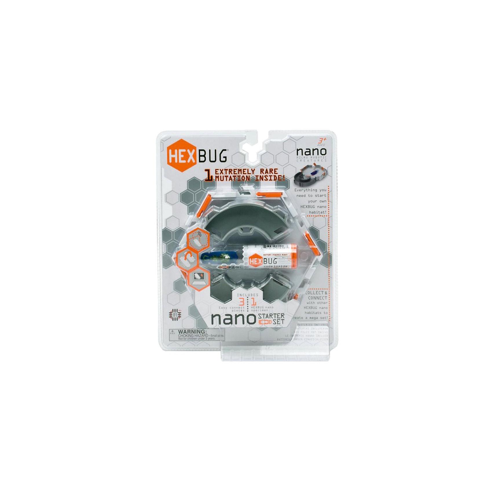 Стартовый игровой набор с микро-роботами Нанодром, HexbugШустрый и проворный наноробот быстро бегает, обожает туннели, лабиринты и ровные горизонтальные площадки, переворачивается после падения. Нанодром расширяет игровые возможности новых друзей, детали наборов Hexbug комплектуются друг с другом. <br><br>Комплектация игрового набора Nano set Construct Starter:<br><br>• 1 площадка, <br>• 2 поворотные дорожки, <br>• 1 микро-робот Нано.<br><br>Стартовый игровой набор с микро-роботами Нанодром, Hexbug можно купить в нашем интернет-магазине.<br><br>Ширина мм: 267<br>Глубина мм: 222<br>Высота мм: 45<br>Вес г: 250<br>Возраст от месяцев: 96<br>Возраст до месяцев: 1164<br>Пол: Мужской<br>Возраст: Детский<br>SKU: 2288909