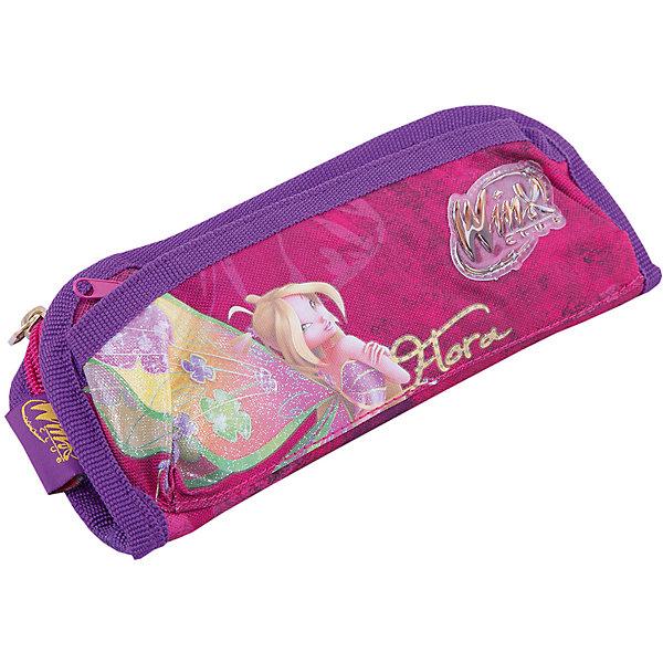 Пенал , Winx ClubПеналы без наполнения<br>Пенал Winx Club Movie станет замечательным помощником вашей малышке и доставит ей много удовольствия. <br>Пенал выполнен из розового плотного текстиля и оформлен изображением феи Флоры. Пенал имеет одно вместительное отделение на застежке-молнии, отделение органайзер с шестью кармашками для письменных принадлежностей и внешний карман на застежке-молнии. <br><br>Дополнительная информация:<br><br>- размер сумки: 21 х 9 х 3 см<br>- материал: полиэстер, пластик, текстиль, металл<br>- серия: Winx (Винкс) - Школа Волшебниц<br>Ширина мм: 210; Глубина мм: 95; Высота мм: 30; Вес г: 70; Возраст от месяцев: 36; Возраст до месяцев: 180; Пол: Женский; Возраст: Детский; SKU: 2312743;