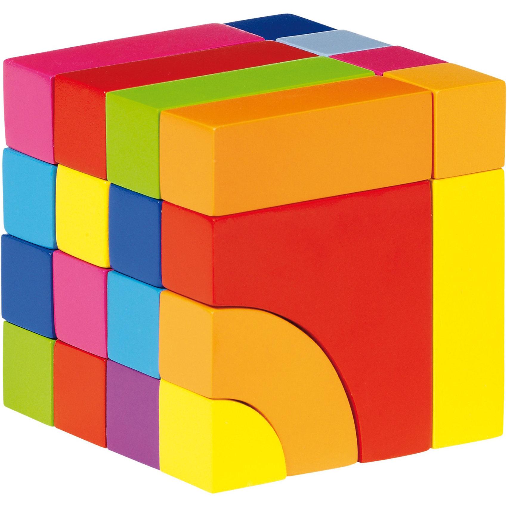 Строительные кубики и Пазл-головоломка, gokiСтроительные кубики и Пазл-головоломка, goki (Гоки)<br><br>Характеристики:<br><br>• можно использовать как головоломку, кубики или мозаику<br>• яркие краски<br>• в комплекте: 24 детали<br>• материал: дерево<br>• размер: 10х10х10 см<br><br>Строительные кубики и Пазл-головоломка - универсальная игрушка для вашего малыша. Ребенок сможет собрать кубик из разных деталей, используя свое логическое мышление. Разобрав кубик, малыш с легкостью соберет башенку из кубиков или красивую узор, подобно мозаике. Игрушка изготовлена из дерева и покрыта нетоксичными красками, что делает ее безопасной для крохи. Игра поможет развить логику, моторику рук и воображение. Кубик-пазл - отличный вариант для тех, кто хочет провести время с пользой.<br><br>Строительные кубики и Пазл-головоломка, goki (Гоки) можно купить в нашем интернет-магазине.<br><br>Ширина мм: 125<br>Глубина мм: 114<br>Высота мм: 109<br>Вес г: 758<br>Возраст от месяцев: 24<br>Возраст до месяцев: 48<br>Пол: Унисекс<br>Возраст: Детский<br>SKU: 2319502