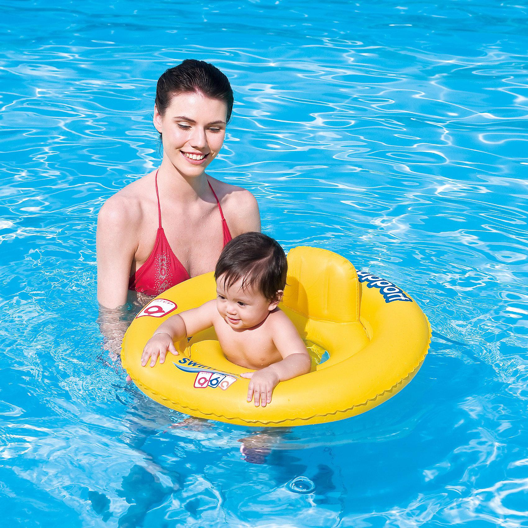 Круг для плавания с сиденьем и спинкой Swim Safe, 69 см, ступень А, Bestway