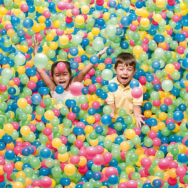 Mячи для игр Bestway, 100 штМячи детские<br>Характеристики товара:<br><br>• материал: полиуретан<br>• диаметр: 6,5 см<br>• комплектация: 100 шт<br>• можно играть на воде и на суше<br>• прочный материал <br>• яркие цвета<br>• хорошо заметны на воде<br>• страна бренда: США, Китай<br>• страна производства: Китай<br><br>Это отличный способ обеспечить детям веселое времяпровождение! Мячи можно добавить в бассейн во дворе у дачного домика, тогда это поможет ребенку больше времени проводить на свежем воздухе.<br><br>Набор сделан из прочного материала, но очень легкого. Комплект мячей мало весит, его удобно брать с собой. Изделие произведено из качественных и безопасных для детей материалов.<br><br>Mмячи для игр, 100 шт, от бренда Bestway (Бествей) можно купить в нашем интернет-магазине.<br>Ширина мм: 50; Глубина мм: 803; Высота мм: 201; Вес г: 4580; Возраст от месяцев: 36; Возраст до месяцев: 144; Пол: Унисекс; Возраст: Детский; SKU: 2324305;