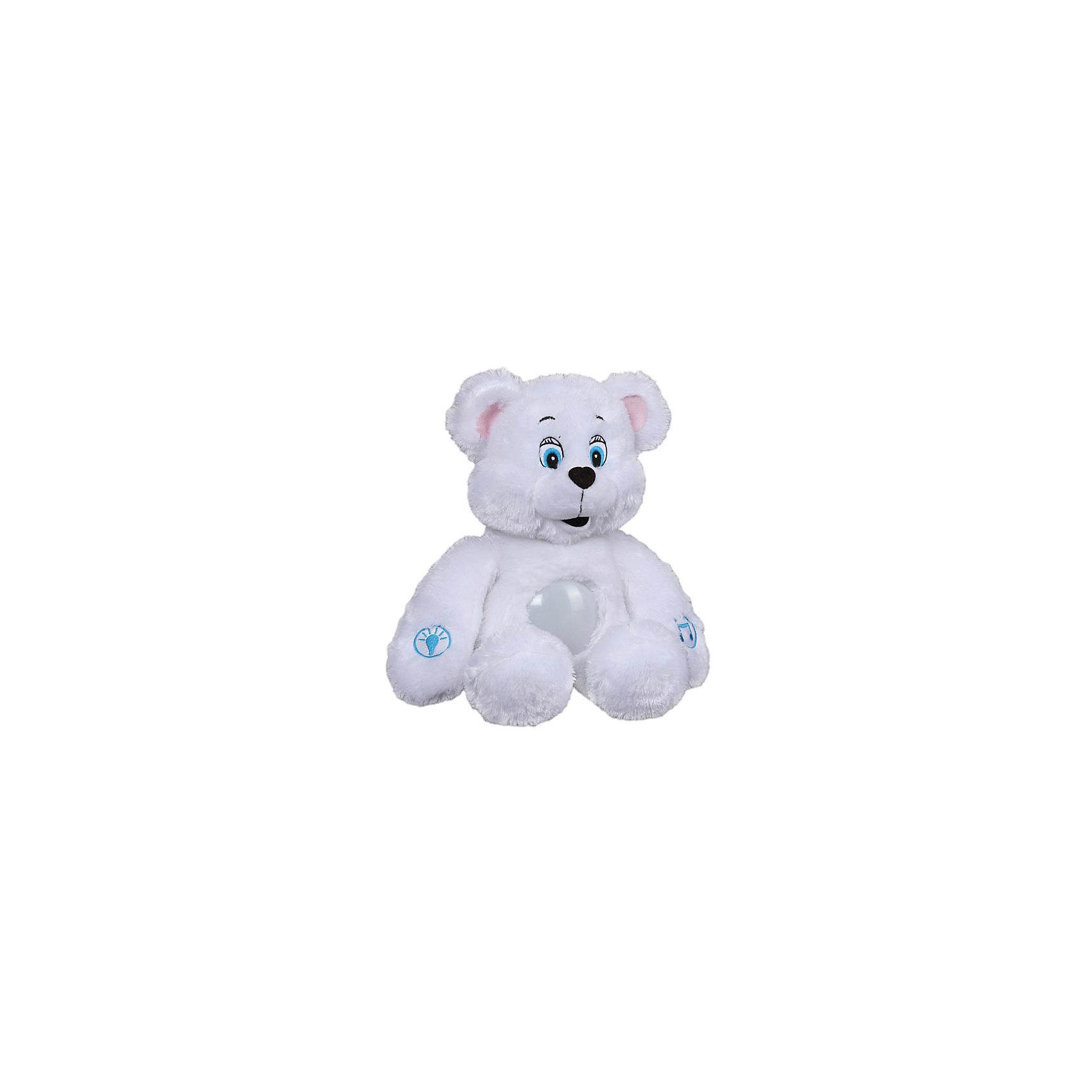 Мягкая игрушка-cветильник Лунный мишка, 38 см, со звуком, МУЛЬТИ-ПУЛЬТИ от myToys