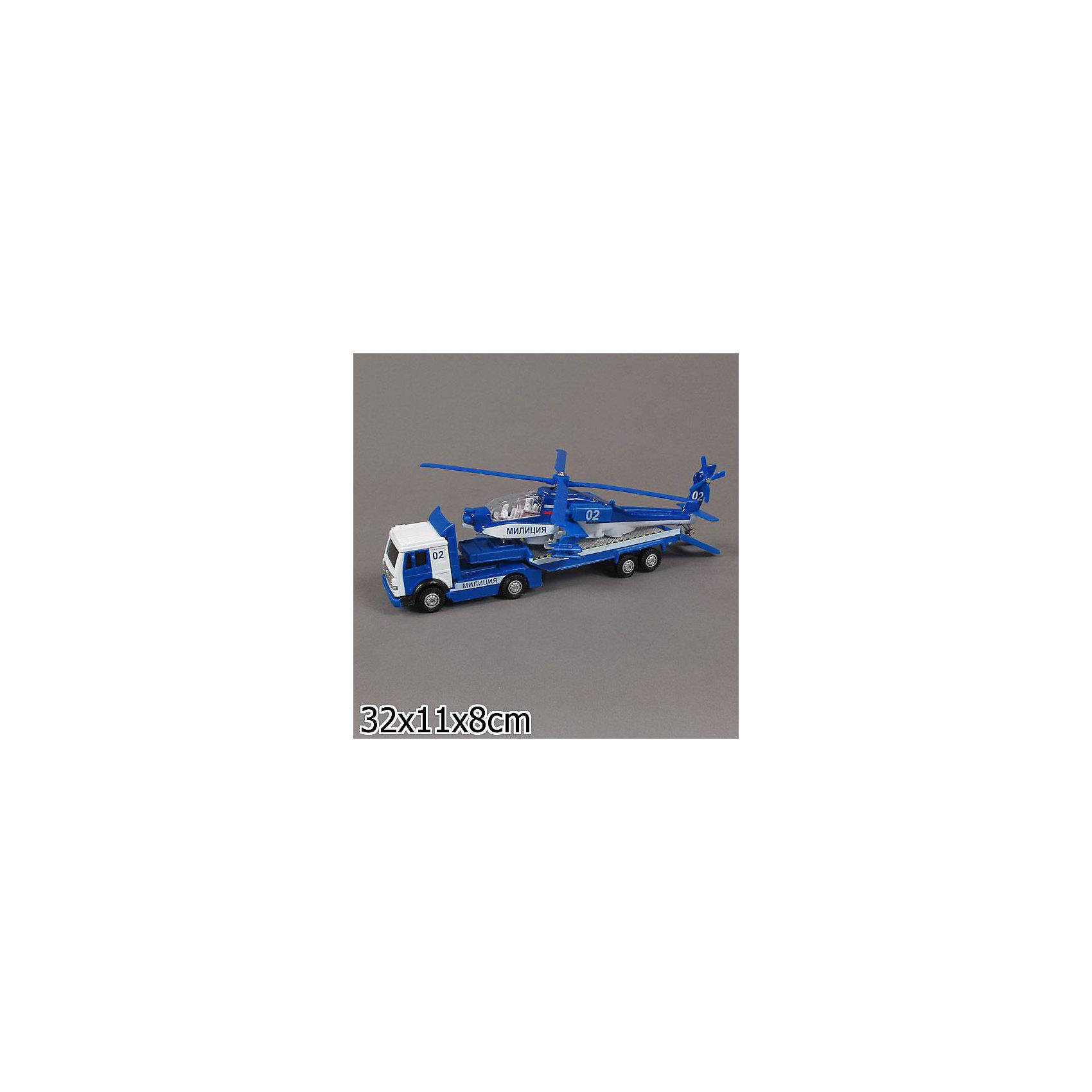 ТЕХНОПАРК Милиция с вертолётомХарактеристики товара:<br><br>• материал: пластик, металл <br>• размер упаковки: 32х11х8 см<br>• масштаб: 1:43<br>• звуковые эффекты<br>• световые эффекты<br>• хорошая детализация<br>• упаковка: коробка<br>• машина инерционная<br>• страна бренда: Российская Федерация<br>• страна производства: Китай<br><br>В этот набор входит металлическая иннерционная машинка и вертолет Милиция. Такая хорошо детализированная игрушка от российского бренда Технопарк станет отличным подарком мальчику. Набор дополнен звуковыми и световыми эффектами. Машинка инерционная: если провезти её задним ходом и отпустить - она сама поедет вперед.<br>Игры с машинками позволяют ребенку не только весело проводить время, но и развивать важные навыки: мелкую моторику, воображение, логику, мышление. Изделие произведено из сертифицированных материалов, безопасных для детей.<br><br>Милиция с вертолётом от бренда ТЕХНОПАРК можно купить в нашем интернет-магазине.<br><br>Ширина мм: 80<br>Глубина мм: 320<br>Высота мм: 160<br>Вес г: 400<br>Возраст от месяцев: 36<br>Возраст до месяцев: 1188<br>Пол: Мужской<br>Возраст: Детский<br>SKU: 2326243