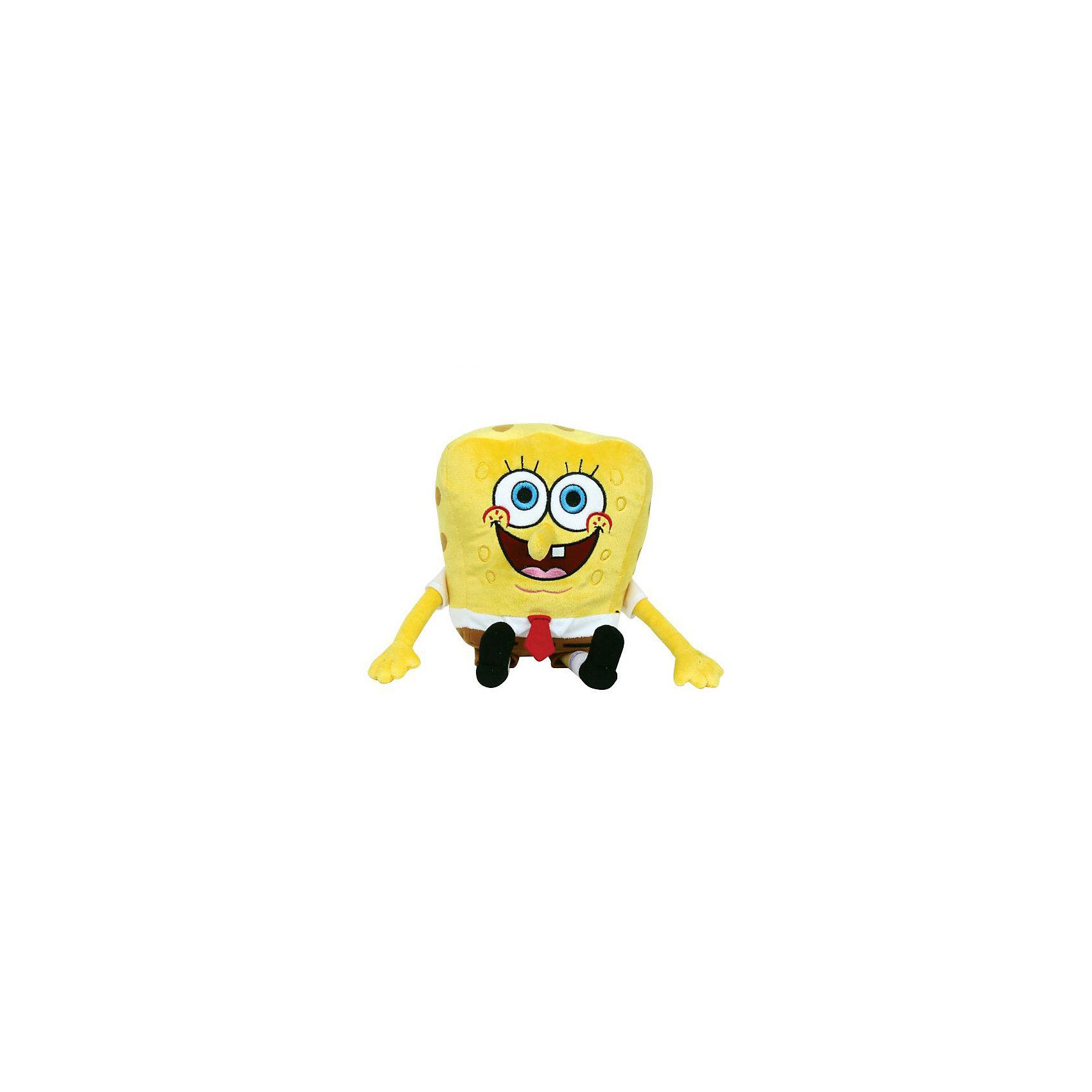 МУЛЬТИ-ПУЛЬТИ Мягкая игрушка Губка Боб, МУЛЬТИ-ПУЛЬТИ мульти пульти мягкая игрушка кот леопольд 20 см со звуком мульти пульти