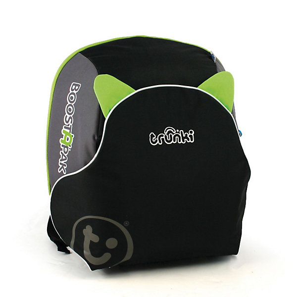 Автокресло-рюкзак черно-зеленоеГруппа 1-2-3  (от 9 до 36 кг)<br>Функциональное автокресло Trunki сделает поездку Вашего ребенка в автомобиле еще более приятной и безопасной. Оригинальная конструкция совмещает в себе рюкзак и комфортный бустер. Легкий и удобный рюкзак изготовлен из жесткого пластика и вмещает в себя все необходимые в дороге вещи и игрушки ребенка. Внутри вместительное отделение на молнии. Рюкзак оснащен эргономичными регулируемыми лямками, имеются светоотражающие полосы. При необходимости его легко можно трансформировать в удобное кресло-бустер и обратно. При этом отсек рюкзака, в который помещаются тетради и учебники, превращается в сиденье, а специальный карман-клапан - в спинку. Складные пластиковые подлокотники обеспечивают дополнительный комфорт. Кресло устанавливается в салоне штатными 3-х точечными ремнями безопасности на заднем сиденье лицом по ходу движения автомобиля. Съемный чехол можно стирать и чистить. Автокресло-рюкзак - идеальный вариант для поездок и путешествий, детское сидение для машины всегда за плечами Вашего ребенка. Бустер рассчитан на детей до 13 лет, ростом до 135 см. и весом до 35 кг. Соответствует нормативам безопасности - норматив ECE R44.04 для группы 2 и группы 3.<br><br>Дополнительная информация:<br><br>- Цвет: черно-зеленый<br>- Материал: жесткий пластик, текстиль.<br>- Размер: 36 х 40 х 16 см.<br>- Вес: 1,5 кг.<br><br>Автокресло черно-зеленое, Trunki, можно купить в нашем интернет-магазине.<br>Ширина мм: 418; Глубина мм: 370; Высота мм: 193; Вес г: 1859; Возраст от месяцев: 48; Возраст до месяцев: 132; Пол: Унисекс; Возраст: Детский; SKU: 2326791;