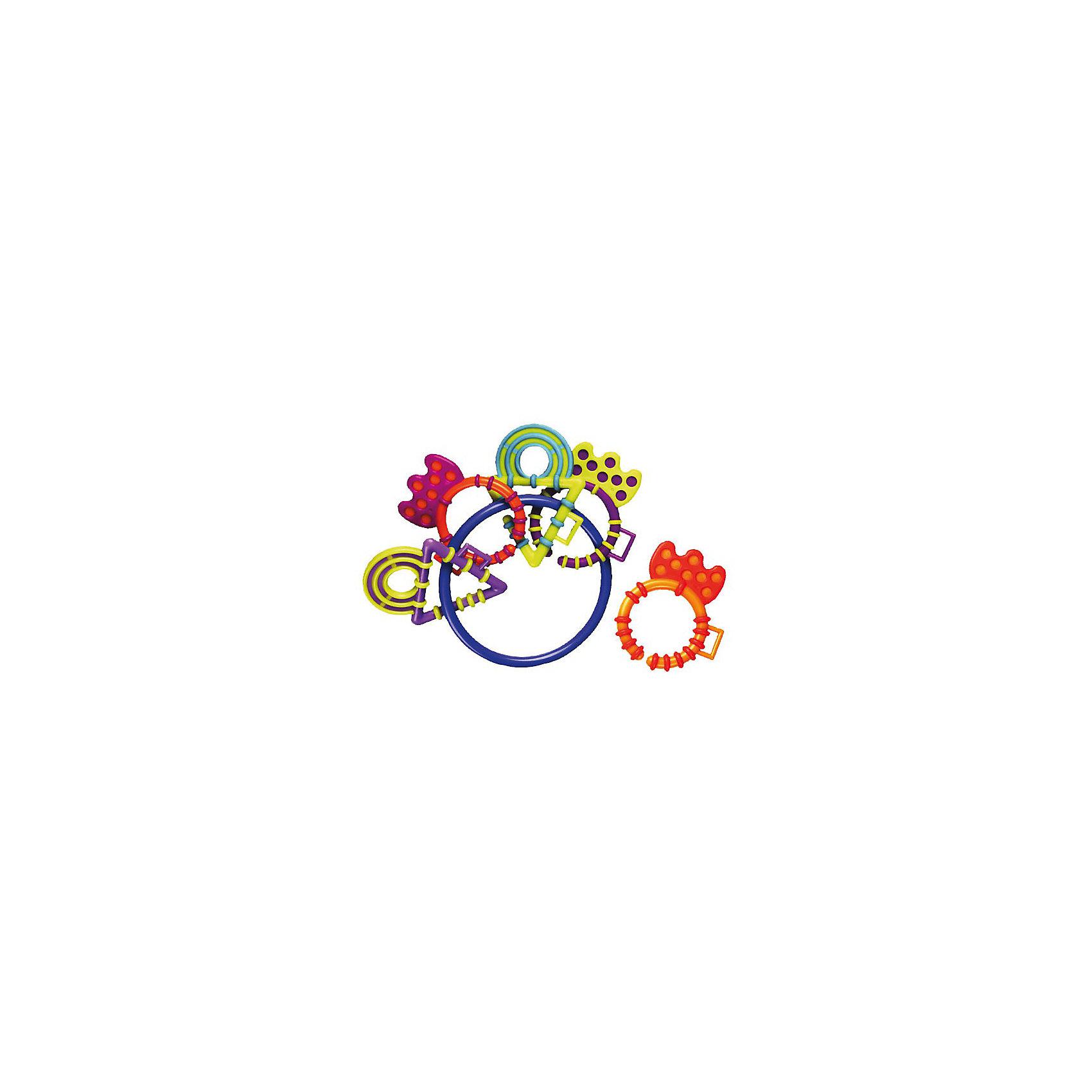 Погремушка-прорезыватель PlaygroПрорезыватели<br>Погремушка-прорезыватель Playgro (Плейгро) - незаменимая игрушка во время прорезывания зубов Вашего ребенка!<br><br>5 разноцветных фигурных прорезывателей для зубов из мягкого безопасного пластика закреплены на большом пластиковом кольце. Все прорезыватели легко отсоединяются от кольца и могут быть использованы по отдельности. Также колечки можно соединить в одну цепочку. Прорезыватели звенят на кольце, если потрясти.<br><br>Погремушка превосходна для маленьких рук!<br><br>Погремушку-прорезыватель Playgro можно купить в нашем интернет-магазине.<br><br>Ширина мм: 280<br>Глубина мм: 490<br>Высота мм: 360<br>Вес г: 51<br>Возраст от месяцев: 0<br>Возраст до месяцев: 12<br>Пол: Унисекс<br>Возраст: Детский<br>SKU: 2327583