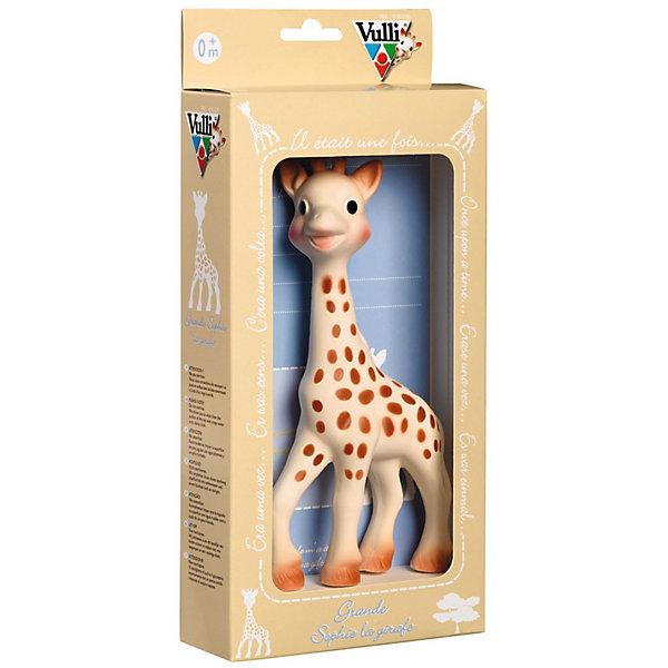 Жирафик Софи Vulli, 21 смИгрушки<br>Жирафик Софи Vulli (Вулли) - уникальная развивающая игрушка взаимодействует со всеми органами чувств малыша!<br><br>Обладает всеми теми же свойствами, что и стандартный Жирафик Софи (18 см.). Большой Жирафик (21 см) прекрасно подходит как для самых маленьких, так и для детей более старшего возраста. <br><br>Большой Жирафик Софи обязательно понравится вашему ребенку и станет прекрасным дополнением к стандартному Жирафику Софи!<br><br>Дополнительная информация:<br>- Материал: 100% натуральный каучук. <br>- Размер упаковки (д/ш/в): 40 х 31 х 30 см. <br>- Высота игрушки: 21 см.<br>Ширина мм: 400; Глубина мм: 310; Высота мм: 300; Вес г: 315; Возраст от месяцев: 0; Возраст до месяцев: 18; Пол: Унисекс; Возраст: Детский; SKU: 2327606;