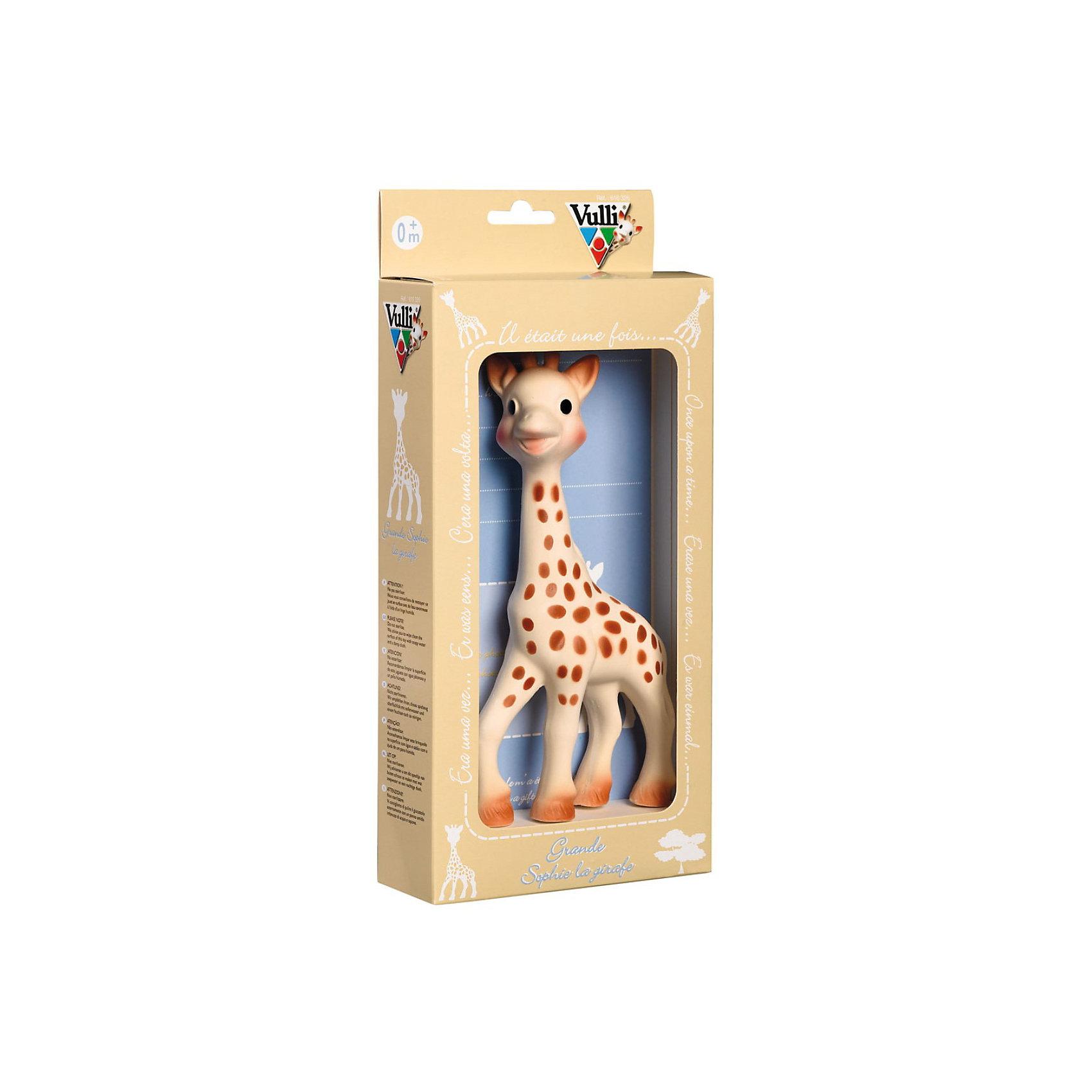 Жирафик Софи Vulli, 21 смПрорезыватели<br>Жирафик Софи Vulli (Вулли) - уникальная развивающая игрушка взаимодействует со всеми органами чувств малыша!<br><br>Обладает всеми теми же свойствами, что и стандартный Жирафик Софи (18 см.). Большой Жирафик (21 см) прекрасно подходит как для самых маленьких, так и для детей более старшего возраста. <br><br>Большой Жирафик Софи обязательно понравится вашему ребенку и станет прекрасным дополнением к стандартному Жирафику Софи!<br><br>Дополнительная информация:<br>- Материал: 100% натуральный каучук. <br>- Размер упаковки (д/ш/в): 40 х 31 х 30 см. <br>- Высота игрушки: 21 см.<br><br>Ширина мм: 400<br>Глубина мм: 310<br>Высота мм: 300<br>Вес г: 315<br>Возраст от месяцев: 0<br>Возраст до месяцев: 18<br>Пол: Унисекс<br>Возраст: Детский<br>SKU: 2327606