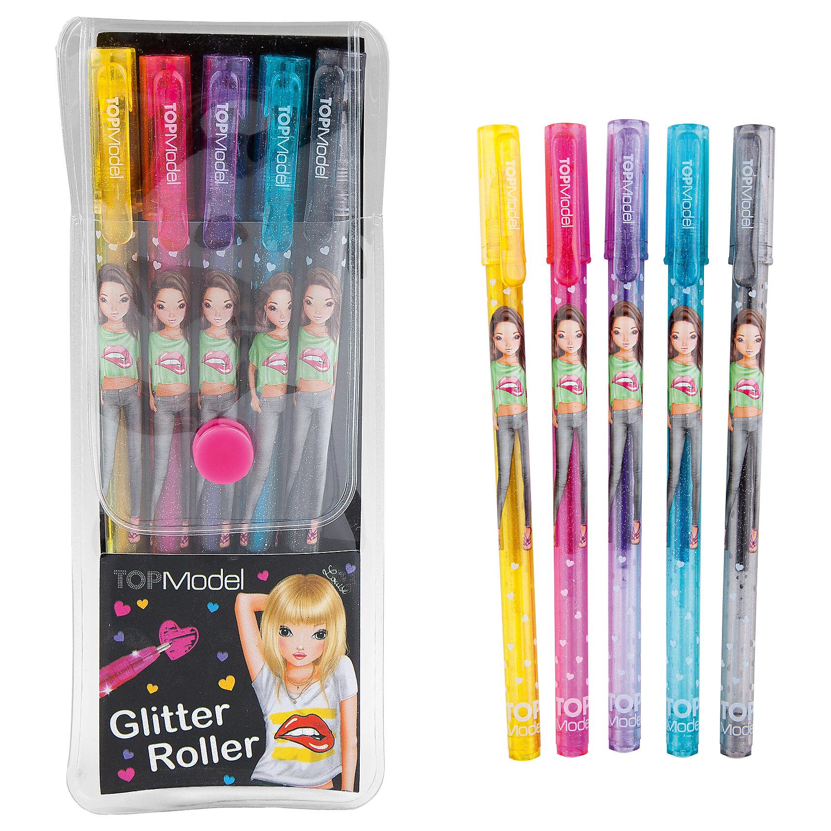 Ручки с блестками Glitter, TOPModelРучки с блестками Glitter, TOPModel<br><br>Характеристики:<br><br>• Ручки с блестками<br>• Цветов: 5<br>• Размер: 16,5х6,5 см<br><br>Теперь в серии TOPModel появились так же и яркие ручки с блестками, которые пригодятся каждому начинающему или профессиональному дизайнеру одежды на бумаге. Они тонко ложатся и не размазываются по тетради. Такие ручки можно использовать и в школе, для того, чтобы выделять важные правила или подчеркивать тему урока. <br><br>Ручки с блестками Glitter, TOPModel можно купить в нашем интернет-магазине.<br><br>Ширина мм: 161<br>Глубина мм: 58<br>Высота мм: 17<br>Вес г: 42<br>Возраст от месяцев: 60<br>Возраст до месяцев: 120<br>Пол: Женский<br>Возраст: Детский<br>SKU: 2327771