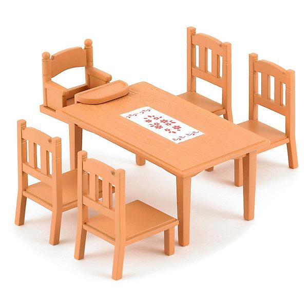 Купить Набор Обеденный стол с 5 стульями Sylvanian Families, Epoch Traumwiesen, Китай, Женский