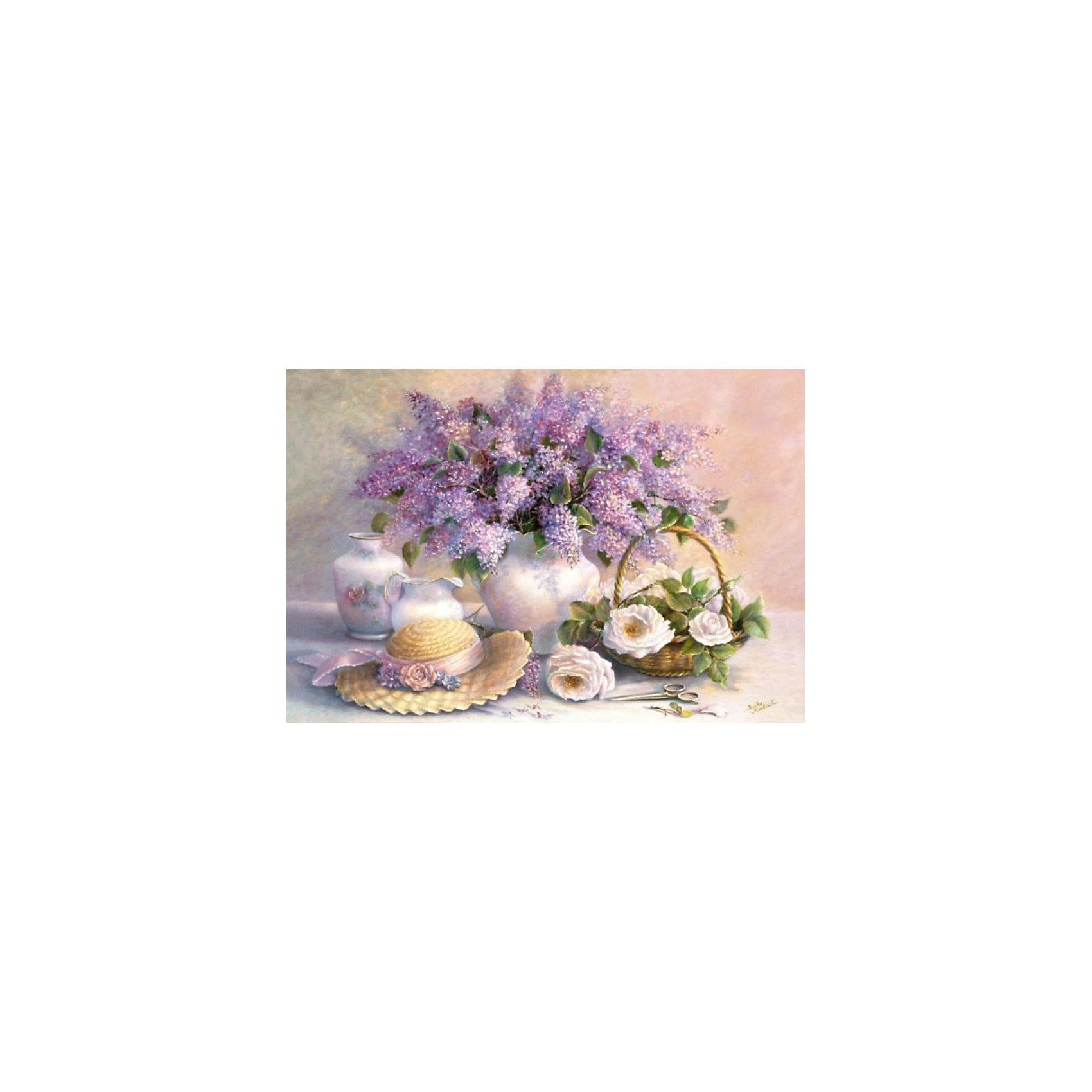 Castorland Пазл Цветы, 1000 деталей, Castorland пазл для раскрашивания арт терапия царь зверей origami 360 деталей