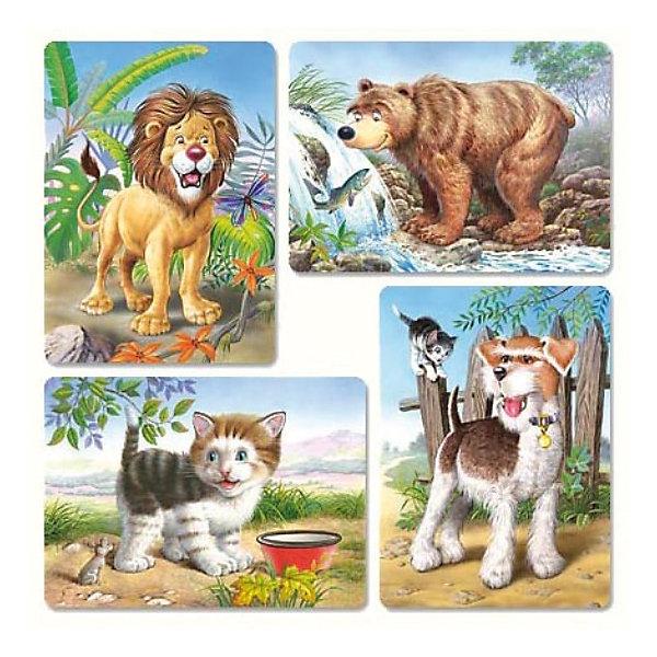 Набор пазлов Звери, 8*12*15*20 деталей, CastorlandПазлы для малышей<br>Пазлы с изображениями медведя, льва, собаки и котика.<br><br>В комплекте 4 пазла, которые состоят из разного количества деталей:<br><br>- 8 деталей;<br>- 12 деталей;<br>- 15 деталей;<br>- 20 деталей.<br><br>Дополнительная информация:<br><br>Размер собранного пазла: 32 x 23 см.<br>Размер упаковки (д/ш/в): 27,5 x 22 x 47 см.<br>Материал: картон.<br>Ширина мм: 273; Глубина мм: 186; Высота мм: 40; Вес г: 400; Возраст от месяцев: 12; Возраст до месяцев: 60; Пол: Унисекс; Возраст: Детский; Количество деталей: 8; SKU: 2328216;