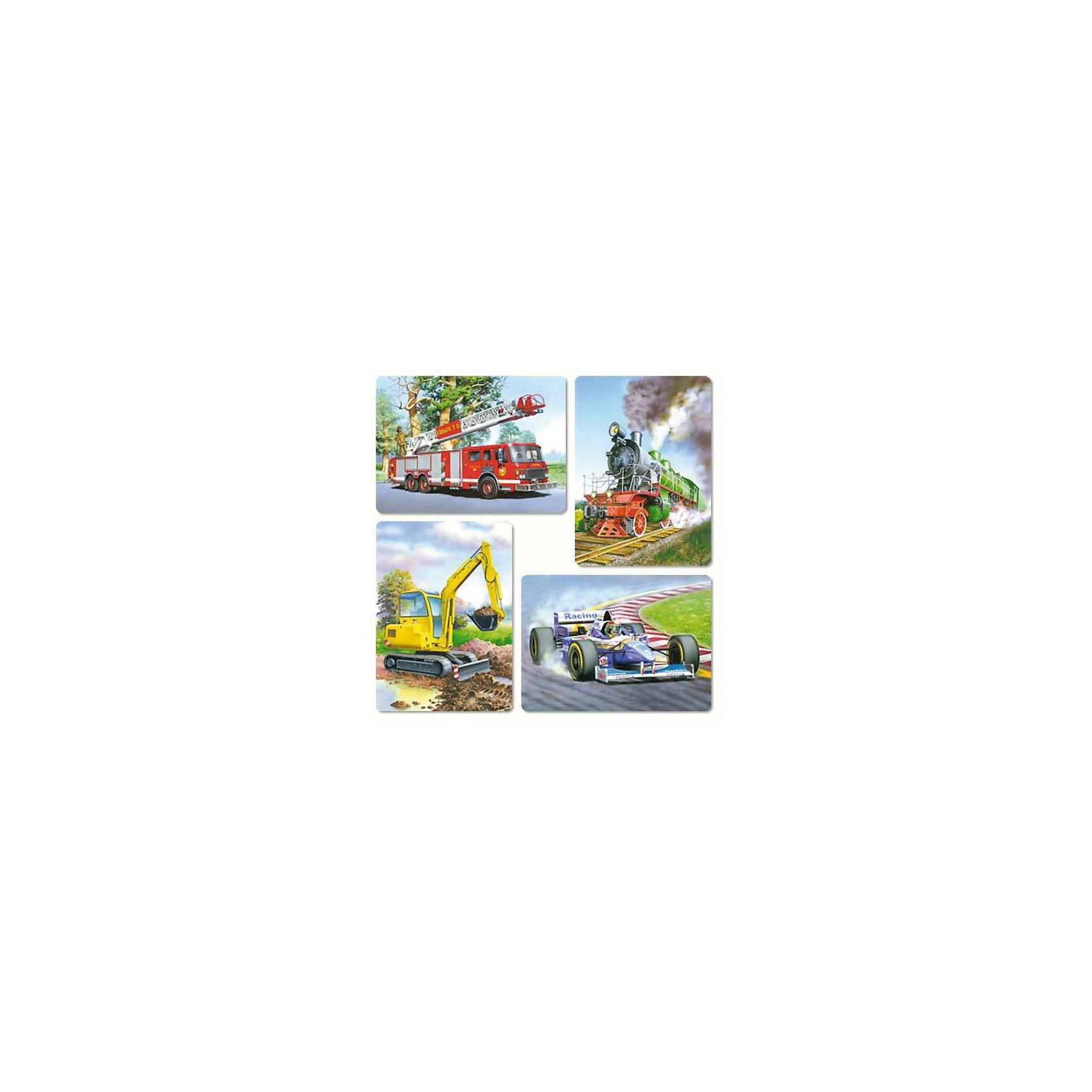 Набор пазлов Транспорт, 8*12*15*20 деталей, CastorlandПазлы для малышей<br>Набор пазлов Транспорт, 8*12*15*20 деталей, Castorland (Касторленд).<br><br>В наборе 4 картинки, выполненных транспортных средств.  Картинки отличаются тем, что состоят из разного количества деталей: 8, 12, 15 или 20. Пазлы имеют разный размер элементов. Ребенок может начинать собирать картинку с крупными элементами, а потом  постепенно увеличивать сложность, собирая пазлы с большим количеством элементов меньшего размера. <br><br>Высококачественные пазлы подарят вам ни с чем не сравнимое удовольствие. Все элементы уникальны и прекрасно соединяются.<br><br>Дополнительная информация:<br><br>- Изображение: гоночный болид, пожарная машина, экскаватор, паровоз<br>- Количество деталей: 8, 12, 15, 20<br>- Материал: плотный картон<br>- Размер собранной картинки:  230 х165 мм<br>- Размер коробки: 273 х 186 х 37 мм<br>- Вес: 400 г.<br><br>Набор пазлов Транспорт, 8*12*15*20 деталей, Castorland (Касторленд) можно купить в нашем интернет-магазине.<br><br>Ширина мм: 273<br>Глубина мм: 186<br>Высота мм: 40<br>Вес г: 400<br>Возраст от месяцев: 12<br>Возраст до месяцев: 60<br>Пол: Унисекс<br>Возраст: Детский<br>Количество деталей: 8<br>SKU: 2328219
