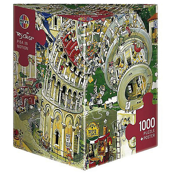 Пазл Пизанская башня, 1000 деталей, HEYEПазлы для детей постарше<br>Юмористические пазлы. Пизанская башня. Кол-во деталей 1000.<br><br>Дополнительная информация:<br><br>Размер пазла в собранном виде: 48 х 68 см.<br>Количество деталей: 1000 шт.<br><br>Пазл Пизанская башня, 1000 деталей, HEYE можно купить в нашем магазине.<br><br>Ширина мм: 270<br>Глубина мм: 140<br>Высота мм: 280<br>Вес г: 650<br>Возраст от месяцев: 216<br>Возраст до месяцев: 1188<br>Пол: Унисекс<br>Возраст: Детский<br>Количество деталей: 1000<br>SKU: 2328263