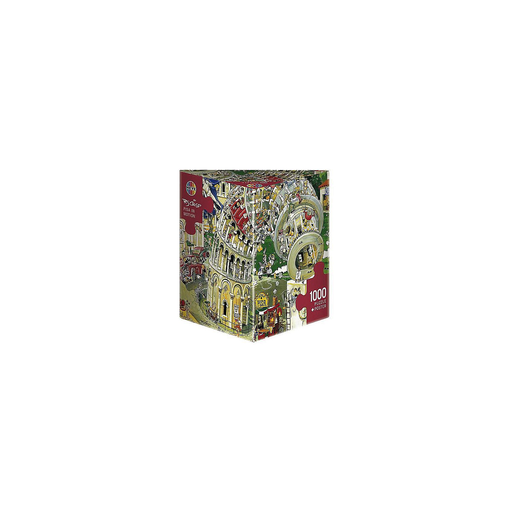 HEYE Пазл Пизанская башня, 1000 деталей, HEYE пазлы magic pazle объемный 3d пазл эйфелева башня 78x38x35 см
