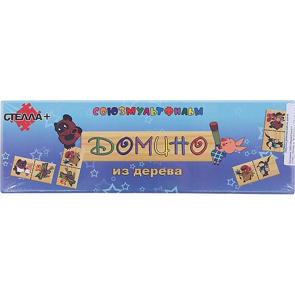 Домино макси Винни-Пух, СТЕЛЛА+Домино<br>Домино макси Винни-Пух, СТЕЛЛА+<br><br>Характеристики:<br><br>• увлекательная игра для всей семьи<br>• изображения любимых героем мультфильма Винни-Пух<br>• материал: дерево<br>• количество деталей: 28<br>• размер упаковки: 29.5х3х9,5 см<br>• вес: 440 грамм<br><br>Домино - игра, полюбившаяся не одному поколению детей и взрослых. Домино от СТЕЛЛА+ изготовлено из дерева с изображением любимых героев советского мультфильма Винни-Пух. В комплекте 28 деталей. Домино отлично подойдет для всей семьи или для игры с друзьями. Играя, ребенок сможет развить моторику рук, логику и память. Домино Винни-Пух - прекрасный вариант для семейного отдыха!<br><br>Домино макси Винни-Пух, СТЕЛЛА+ можно купить в нашем интернет-магазине.<br><br>Ширина мм: 295<br>Глубина мм: 95<br>Высота мм: 30<br>Вес г: 440<br>Возраст от месяцев: 36<br>Возраст до месяцев: 120<br>Пол: Унисекс<br>Возраст: Детский<br>SKU: 2328304