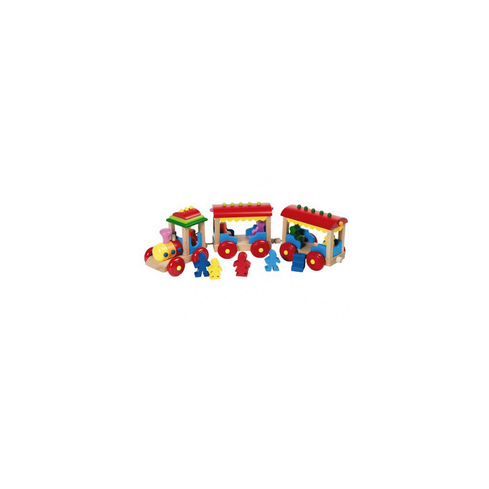 Игрушка деревянная паровозик Борнхольм, gokiЖелезные дороги<br>Игрушка деревянная паровозик Борнхольм, goki (гоки) – эта красочная деревянная игрушка подарит вашему малышу заряд положительных эмоций.<br>Паровозик с двумя вагончиками и набором человечков-пассажиров наверняка, понравится Вашему малышу. У паровозика - магнитное крепление вагонов. Игрушка развивает мелкую моторику ребенка, цветовосприятие и фантазию. Изготовлена из древесины и окрашена безопасными красками на водной основе.<br><br>Дополнительная информация:<br><br>- В комплекте: паровозик, 2 вагона, фигурки человечков<br>- Размер: 38х8х10см.<br>- Материал: древесина<br><br>Игрушку деревянную паровозик Борнхольм, goki (гоки) можно купить в нашем интернет-магазине.<br><br>Ширина мм: 380<br>Глубина мм: 100<br>Высота мм: 80<br>Вес г: 611<br>Возраст от месяцев: 24<br>Возраст до месяцев: 60<br>Пол: Мужской<br>Возраст: Детский<br>SKU: 2328652