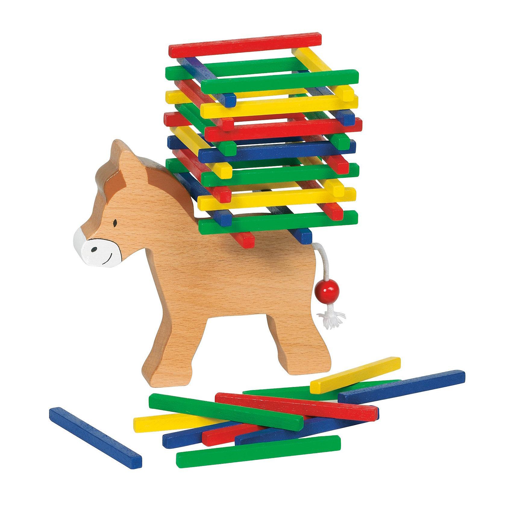 Игра Нагрузи ослика, gokiИгрушка деревянная Нагрузи ослика<br><br>Игра развивает ловкость и внимание. Задача игрока-нагрузить ослика всеми 60 палочками из набора.<br><br>Дополнительная информация:<br><br>- Материалы: дерево<br>- Размер ослика 12х10,5 см<br>- В наборе 60 палочек<br><br>Ширина мм: 122<br>Глубина мм: 122<br>Высота мм: 46<br>Вес г: 191<br>Возраст от месяцев: 24<br>Возраст до месяцев: 72<br>Пол: Унисекс<br>Возраст: Детский<br>SKU: 2328658
