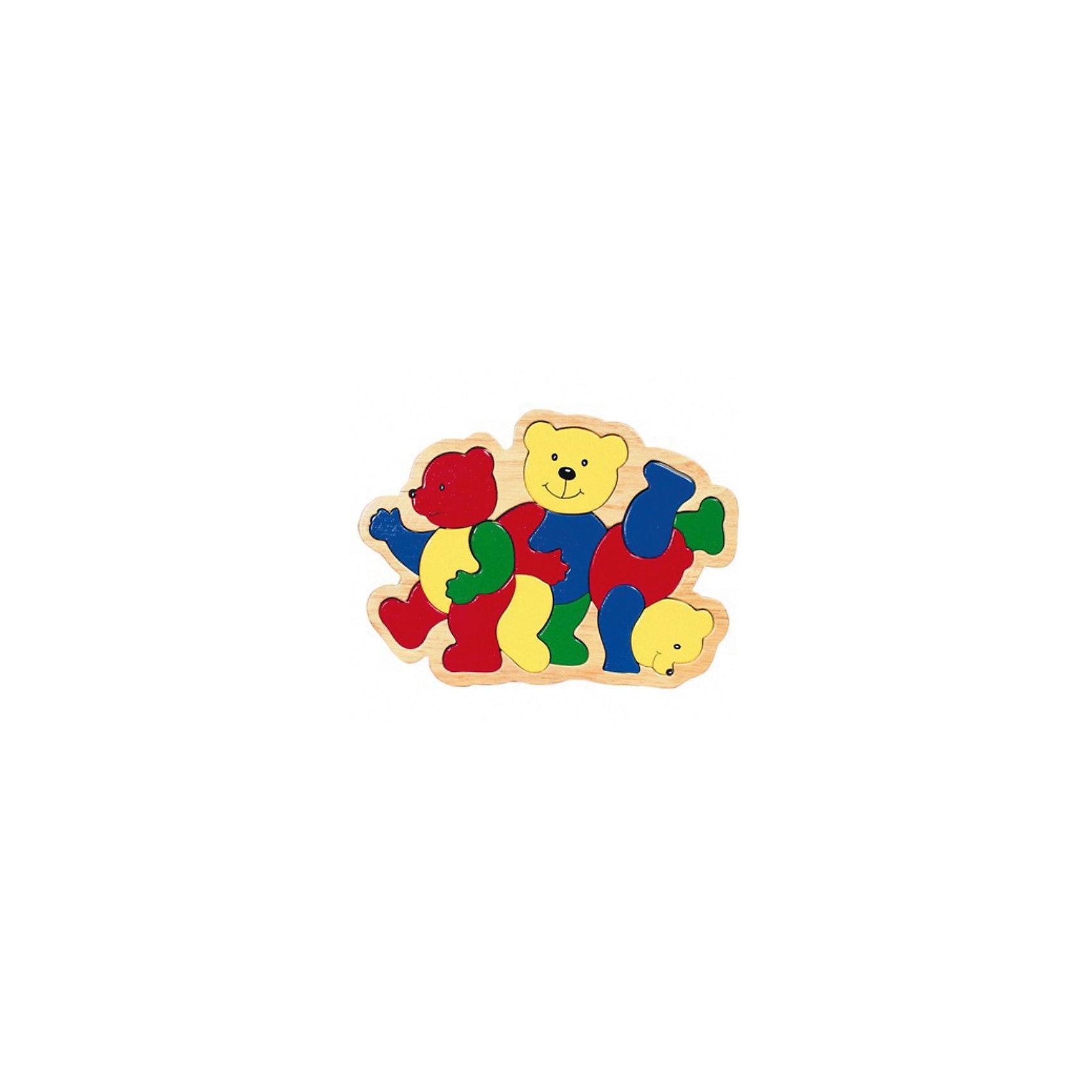 GOLLNEST &amp; KIESEL Пазл Три медведяПервый пазл малыша состоит из 16-ти частей. Пазл развивает моторику, координацию движений малыша, благодаря ему ребенок узнает много нового о предметах и животных. Материал: дерево, стойкие безопасные краски на водной основе без вреда для здоровья   Бренд: TOYS PURE<br><br>Ширина мм: 260<br>Глубина мм: 15<br>Высота мм: 190<br>Вес г: 449<br>Возраст от месяцев: 24<br>Возраст до месяцев: 60<br>Пол: Унисекс<br>Возраст: Детский<br>SKU: 2328664
