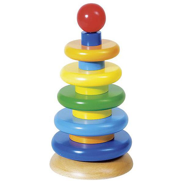 Пирамидка Башня 3 в 1 GOKIРазвивающие игрушки<br>Пирамидка Башня 3 в 1 GOKI.<br><br>Характеристики:<br><br>•Материалы: дерево<br>•Высота: 26 см, диаметр 13 см.<br>•В комплекте: 12 элементов разного цвета.<br><br>Пирамидка Башня 3 в 1 от немецкого бренда GOKI – это отличная игрушка для развития вашего малыша. Разноцветные кольца можно собирать каждый раз по - разному, например, в виде правильной пирамиды (большое кольцо, маленькое колечко и т.д.) или собрать одну пирамиду из больших колец и одну из маленьких, разместив их одну над другой. Такая игрушка развивает мелкую моторику малыша, а также цветовое восприятие, ведь кольца пирамидки окрашены в основные базовые цвета. Пирамидка изготовлена из экологичного материала – дерево.<br><br>Пирамидку Башня 3 в 1 GOKI, можно купить в нашем интернет – магазине.<br><br>Ширина мм: 130<br>Глубина мм: 160<br>Высота мм: 260<br>Вес г: 1200<br>Возраст от месяцев: 18<br>Возраст до месяцев: 48<br>Пол: Унисекс<br>Возраст: Детский<br>SKU: 2328674