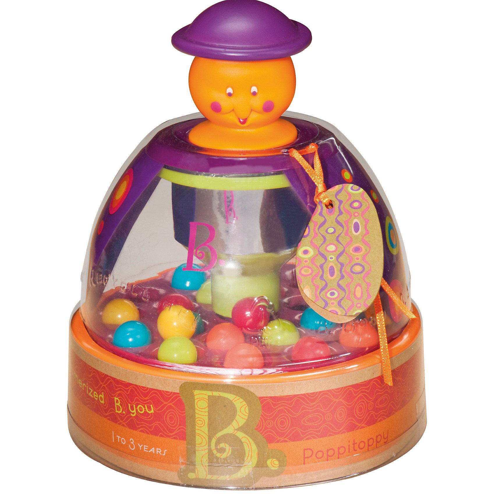 Юла Прыгающие шарики, B DOTРазвивающие игрушки<br>Юла - любимая игрушка многих детей. Эта игра очень удобна - ее можно брать с собой в дорогу, благодаря продуманной форме хранится она очень компактно. Она развивает также мелкую моторику, внимание и цветовосприятие. Такая игра надолго занимает детей и помогает увлекательно провести время!<br>В юле шарики начнут прыгать, когда жмешь на крышку, и останавливаются не сразу. Движение шариков увлекает ребенка - когда они падают, слышится приятный звук. Игра разработана опытными специалистами, сделана из высококачественных материалов, безопасных для детей.<br><br>Дополнительная информация:<br><br>материал: пластик;<br>размер: 28 х 19 х 16,5 см.<br><br>Игрушку Юла Прыгающие шарики от компании B DOT можно купить в нашем магазине.<br><br>Ширина мм: 150<br>Глубина мм: 150<br>Высота мм: 180<br>Вес г: 650<br>Возраст от месяцев: 12<br>Возраст до месяцев: 36<br>Пол: Унисекс<br>Возраст: Детский<br>SKU: 2329023