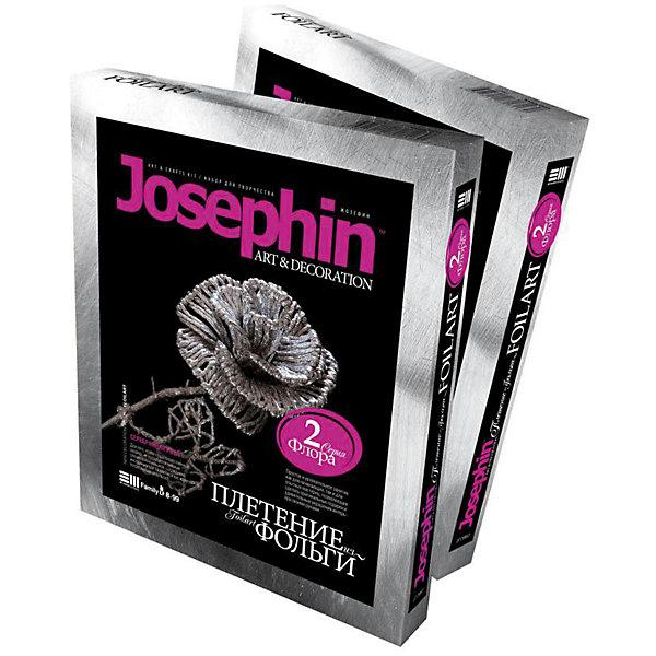 Josephine Набор плетение из фольги Серебрянная розаНаборы для создания украшений<br>Josephine Набор плетение из фольги Серебряная роза, Фантазер<br><br>Характеристики:<br><br>• сверкающая роза из фольги <br>• легко создать <br>• в комплекте: фольга, шаблон, инструкция<br>• размер упаковки: 22,2х18,6х2,7 см<br>• вес: 84 грамм<br><br>Поделки из фольги всегда поражают своей легкостью и красотой. С помощью набора от Josephine ваш ребенок сможет самостоятельно создать сверкающую серебряную розу, которая станет приятным дополнением к интерьеру дома. Для этого нужно разрезать фольгу на небольшие полоски, скрутить ее, а затем сплести цветок по шаблону. Плетение из фольги - отличный вариант для интересного семейного вечера!<br><br>Josephine Набор плетение из фольги Серебряная роза, Фантазер вы можете купить в нашем интернет-магазине.<br><br>Ширина мм: 185<br>Глубина мм: 25<br>Высота мм: 220<br>Вес г: 100<br>Возраст от месяцев: 96<br>Возраст до месяцев: 1188<br>Пол: Женский<br>Возраст: Детский<br>SKU: 2331309