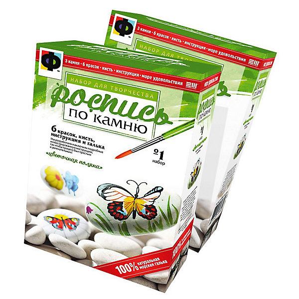 Фантазер Набор №1 Цветочная полянаНаборы для раскрашивания<br>Фантазер Набор №1 Цветочная поляна<br><br>Характеристики:<br><br>• в набор входит настоящая галька<br>• разные размеры камней<br>• в комплекте: галька (3 шт.), краски (6 цветов), кисточка, инструкция)<br>• размер упаковки: 16х11х5 см<br>• вес: 422 грамма<br><br>В набор Цветочная поляна входят 3 настоящие гальки разного размера. Для создания красивой композиции ребенку предстоит промыть, высушить, загрунтовать камни, а затем раскрасить их, задействуя свою фантазию. Подробная инструкция с картинками поможет ему разобраться со всеми тонкостями процесса. В комплекте вы найдете яркие краски и кисточку с тонкими ворсинками, которые превратят обычные камни в настоящий шедевр.<br><br>Фантазер Набор №1 Цветочная поляна можно купить в нашем интернет-магазине.<br><br>Ширина мм: 105<br>Глубина мм: 55<br>Высота мм: 160<br>Вес г: 450<br>Возраст от месяцев: 84<br>Возраст до месяцев: 1188<br>Пол: Женский<br>Возраст: Детский<br>SKU: 2331314