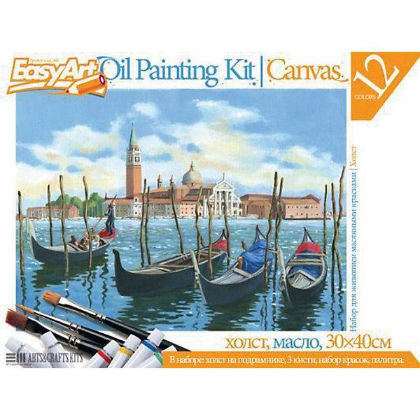 EasyArt Набор для живописи масляными красками № 1 ВенецияНаборы для раскрашивания<br>EasyArt Набор для живописи масляными красками № 1 Венеция, Фантазер<br><br>Характеристики:<br><br>• настоящая картина своими руками<br>• готовый эскиз<br>• прекрасный пейзаж Венеции<br>• в комплекте: деревянный подрамник с холстом, масляные краски (12 цветов), 3 кисти, палитра из пластика<br>• размер холста: 30х40 см<br>• размер упаковки: 30,7х40,5х2,3 см<br>• вес: 740 грамм<br><br>С помощью набора Венеция ваш ребенок сможет почувствовать себя настоящим художником, создающим восхитительные картины. Эскиз пейзажа Венеции уже нанесен на холст, и ребенку останется лишь раскрасить его так, как подскажет его воображение. Цвета красок можно смешать, чтобы получить новый, необходимый цвет. Для этого в набор входит удобная пластиковая палитра. Сами краски хорошо ложатся на холст и не выцветают. Прекрасная картина еще долго будет радовать юного художника или отлично подойдет в качестве подарка!<br><br>EasyArt Набор для живописи масляными красками № 1 Венеция, Фантазер можно купить в нашем интернет-магазине.<br><br>Ширина мм: 400<br>Глубина мм: 20<br>Высота мм: 300<br>Вес г: 780<br>Возраст от месяцев: 96<br>Возраст до месяцев: 1188<br>Пол: Женский<br>Возраст: Детский<br>SKU: 2331377
