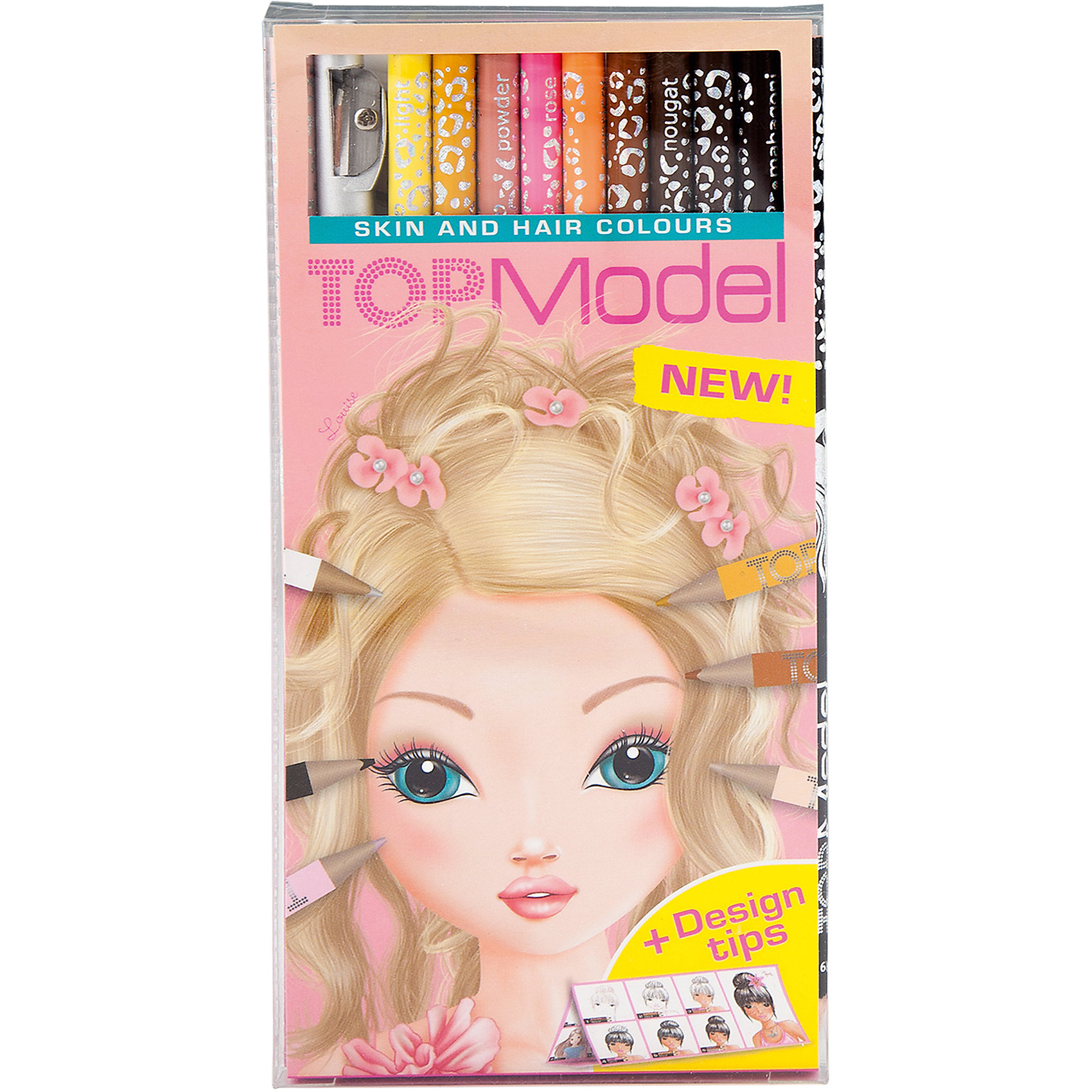 Набор цветных карандашей Skin and Hair, TOPModelПисьменные принадлежности<br>Набор цветных карандашей Skin and Hair, TOPModel<br><br>Характеристики:<br><br>• В комплекте: карандаши, точилка<br>• Цветов: 10<br>• Размер: 18х9 см<br><br>Этот уникальный набор карандашей из серии TOPModel позволит вашему ребенку аккуратно и натурально нарисовать волосы моделей, шерсть животных, а так же раскрашивать кожу, делая ее естественной. Рисунки получаются живыми и натуральными, так как цвета подобранны дизайнерами. В комплекте идет 12 карандашей, точилка и вложение от профессиональных художников с подсказками.<br><br>Набор цветных карандашей Skin and Hair, TOPModel можно купить в нашем интернет-магазине.<br><br>Ширина мм: 10<br>Глубина мм: 90<br>Высота мм: 180<br>Вес г: 82<br>Возраст от месяцев: 60<br>Возраст до месяцев: 1164<br>Пол: Женский<br>Возраст: Детский<br>SKU: 2336125