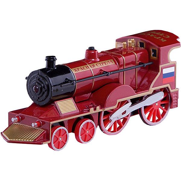 Паровоз со звуком и светом, ТЕХНОПАРКЖелезные дороги<br>Паровоз со звуком и светом, ТЕХНОПАРК - реалистичный игрушечный инерционный метаалический паровоз  - модель паровоза Красная стрела. <br><br>Игрушка развивает у детей воображение, фантазию, творческие способности и пространственное мышление.<br><br>Дополнительная информация:<br><br>В комплекте: паровоз Стрела, со звуком и светом.<br>- Размеры: 4 x 5.5 x 14.5 см<br>- Материал: металл.<br><br>Паровоз со звуком и светом, ТЕХНОПАРК  можно купить в нашем интернет-магазине.<br><br>Ширина мм: 140<br>Глубина мм: 50<br>Высота мм: 200<br>Вес г: 210<br>Возраст от месяцев: 36<br>Возраст до месяцев: 1188<br>Пол: Мужской<br>Возраст: Детский<br>SKU: 2354191