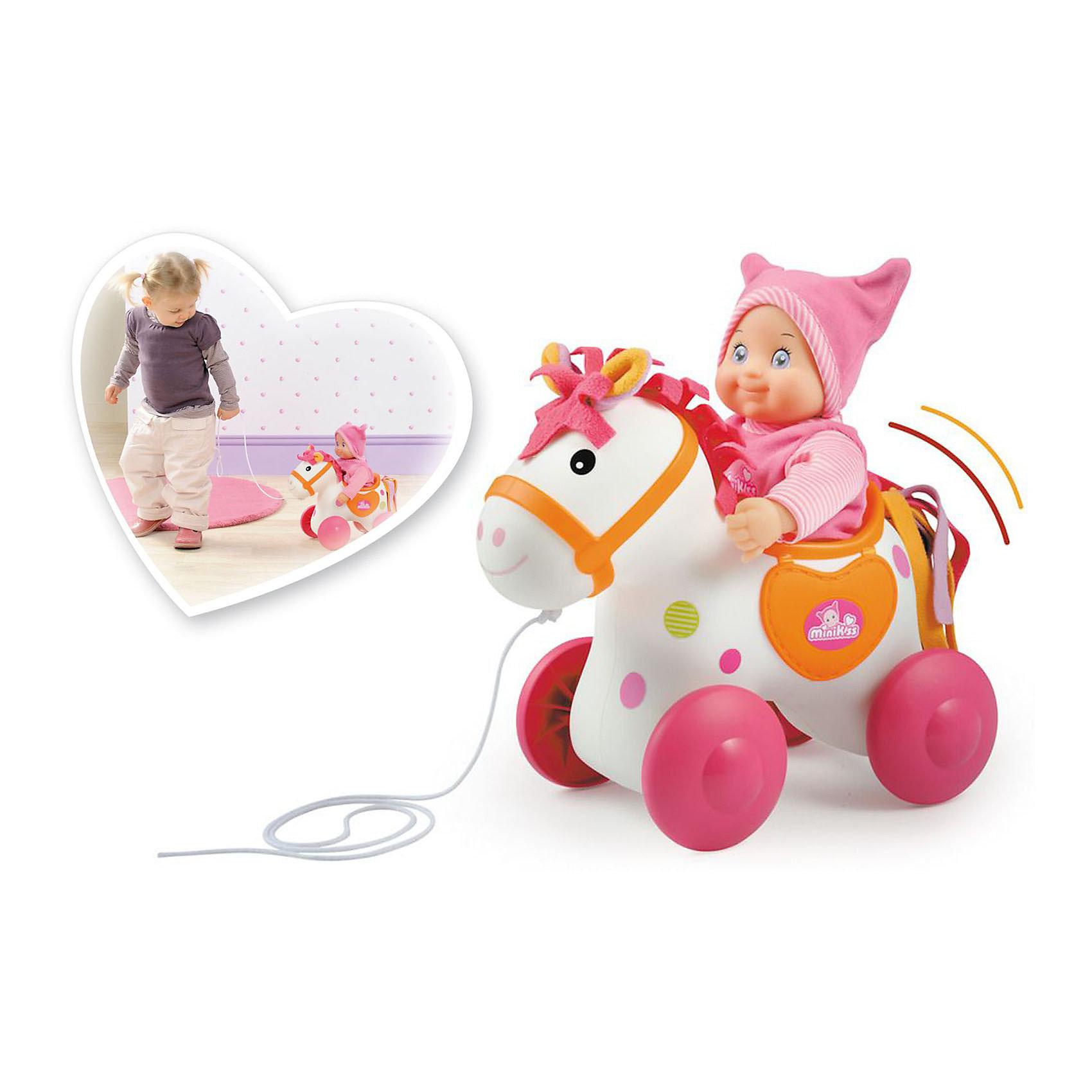 Smoby Лошадка для катания пупса Mini KissSmoby Лошадка для катания пупса Mini Kiss - симпатичная игрушка -каталка на веревочке для вашего ребенка. <br><br>Альтернатива обычным игрушкам- каталкам и привычным кукольным коляскам! <br><br>Симпатичная маленькая лошадка создана специально для катания пупса Mini Kiss (пупс в комплект не входит), но также с удовольствием покатает и другие любимые игрушки вашего ребенка, подходящие по размеру.<br><br>Лошадка-каталка выполнена в приятных пастельных цветах.<br><br>Дополнительная информация:<br><br>- Материал: высококачественная пластмасса. <br>- Размер: 25 х 18 х 24 см.<br>- Пупс в комплект не входит.<br>- Подходит для кукол размером 30 см.<br><br>Интересная игрушка для вашего ребенка!<br><br>Ширина мм: 250<br>Глубина мм: 180<br>Высота мм: 240<br>Вес г: 530<br>Возраст от месяцев: 12<br>Возраст до месяцев: 1188<br>Пол: Женский<br>Возраст: Детский<br>SKU: 2357560