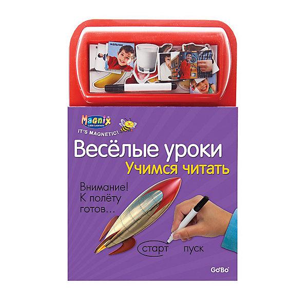 Играй-изучай! Учимся читатьАзбуки<br>Книга с 21 магнитной и гладкой страницами с заданиями и играми (для письма и приклеивания карточек). Дополнительная информация: в комплект входит: книга с магнитными страницами, 37 магнитных карточек, фломастер. Размеры ((д/ш/в): 220 х 15 х 270 мм<br><br>Ширина мм: 205<br>Глубина мм: 15<br>Высота мм: 300<br>Вес г: 500<br>Возраст от месяцев: 36<br>Возраст до месяцев: 72<br>Пол: Унисекс<br>Возраст: Детский<br>SKU: 2358191