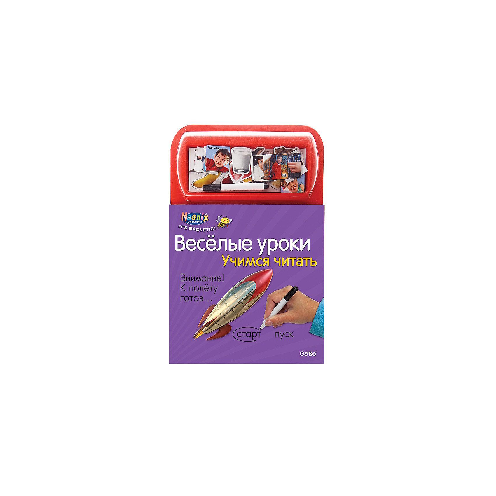 Играй-изучай! Учимся читатьБуквари и азбуки<br>Книга с 21 магнитной и гладкой страницами с заданиями и играми (для письма и приклеивания карточек). Дополнительная информация: в комплект входит: книга с магнитными страницами, 37 магнитных карточек, фломастер. Размеры ((д/ш/в): 220 х 15 х 270 мм<br><br>Ширина мм: 205<br>Глубина мм: 15<br>Высота мм: 300<br>Вес г: 500<br>Возраст от месяцев: 36<br>Возраст до месяцев: 72<br>Пол: Унисекс<br>Возраст: Детский<br>SKU: 2358191